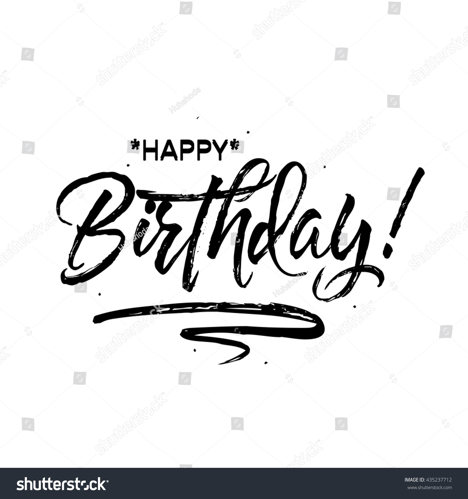Happy Birthday Beautiful Greeting Card Poster Stock Vector