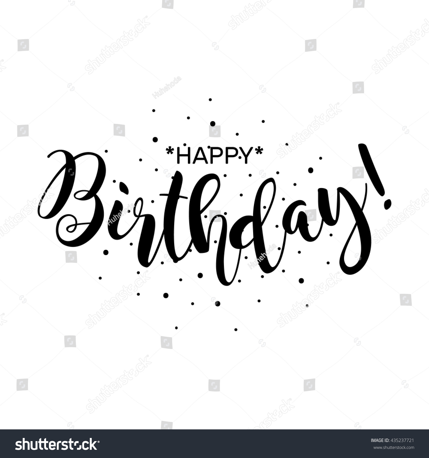 Royalty free happy birthday beautiful greeting card 435237721 beautiful greeting card poster with calligraphy black text word hand drawn design m4hsunfo