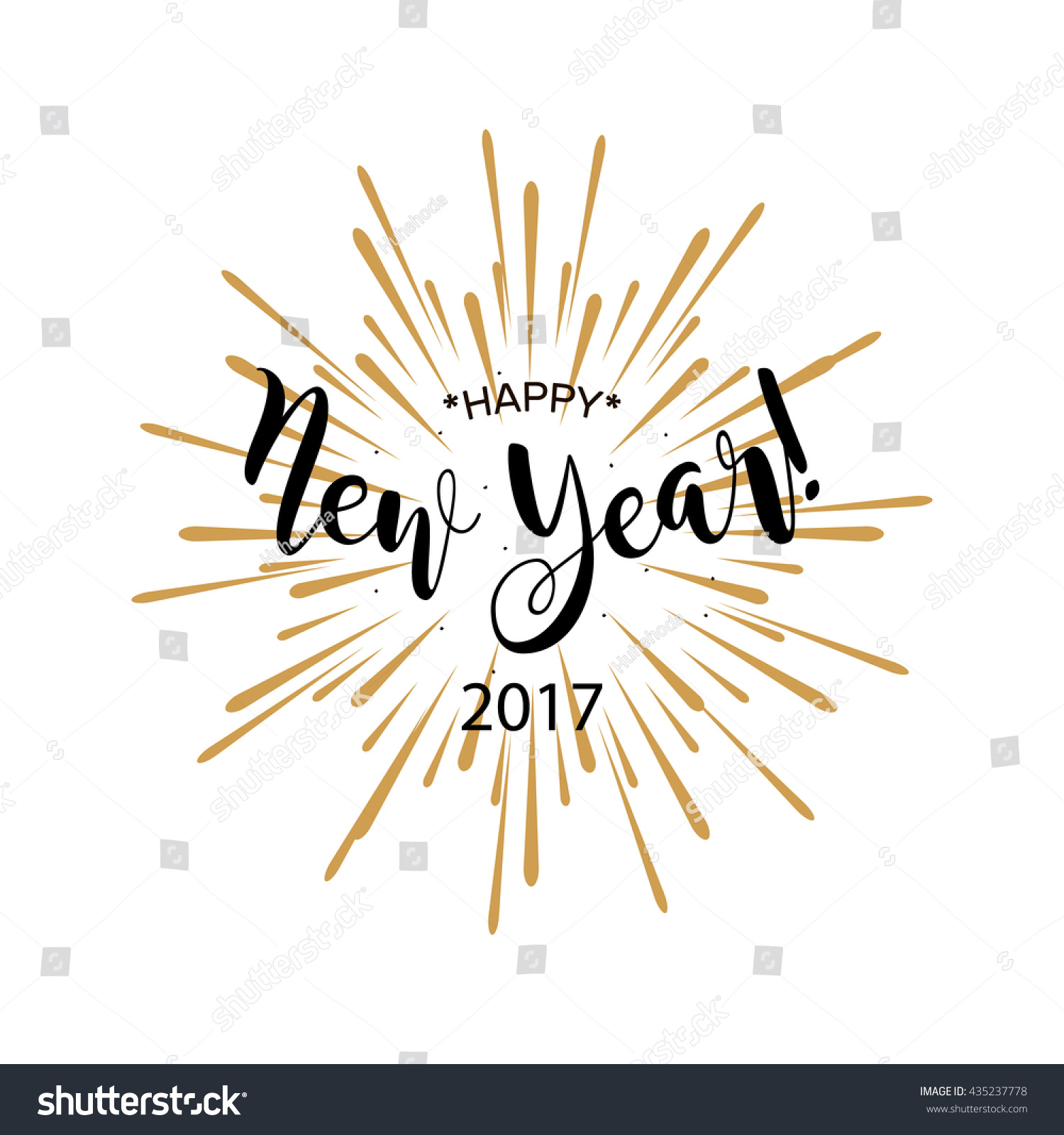 Happy New Year 2017 Beautiful Greeting Stock Vector (Royalty Free ...