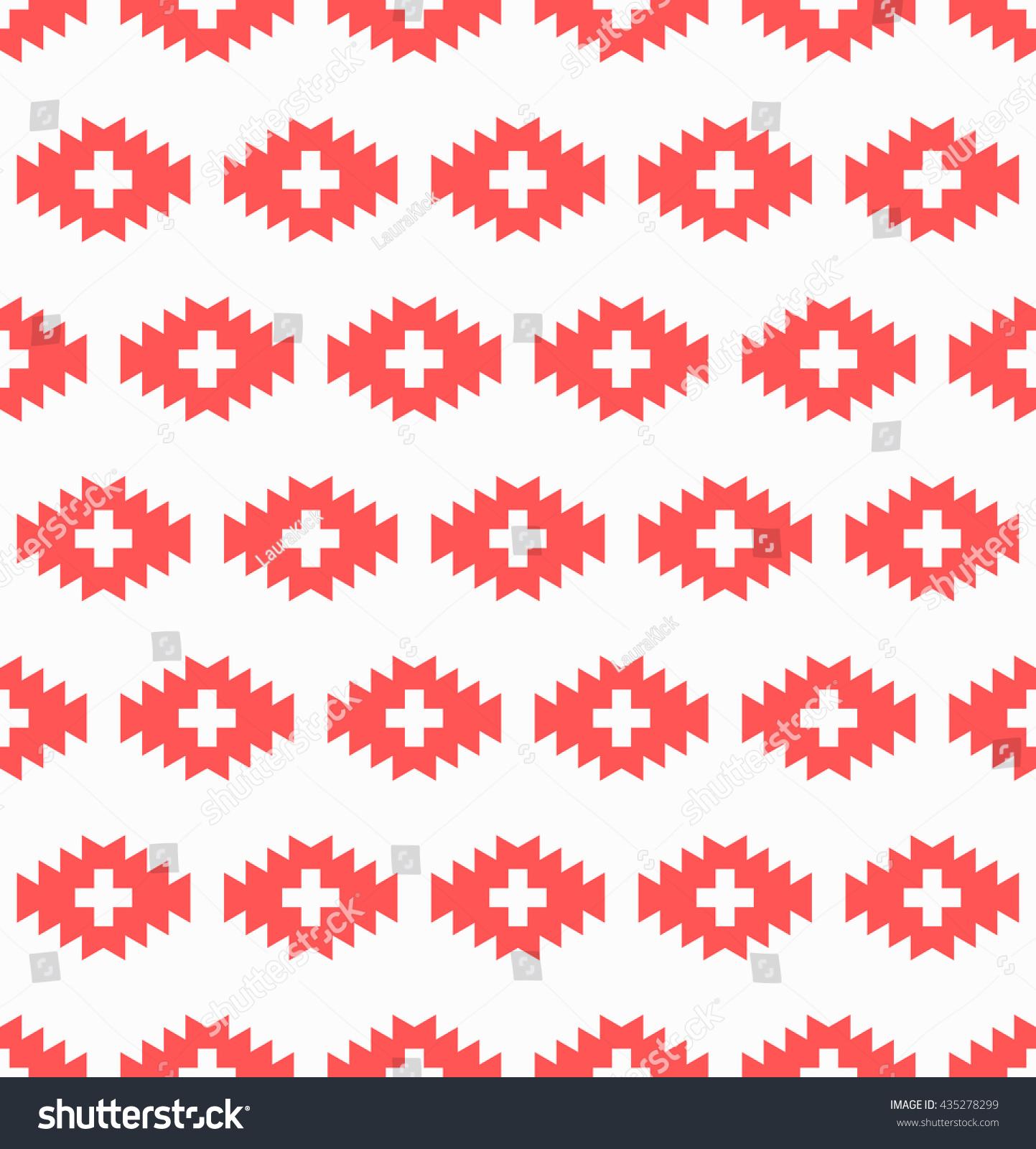 Seamless Aztec Wallpaper Diamond Shape Teeth Stock Image