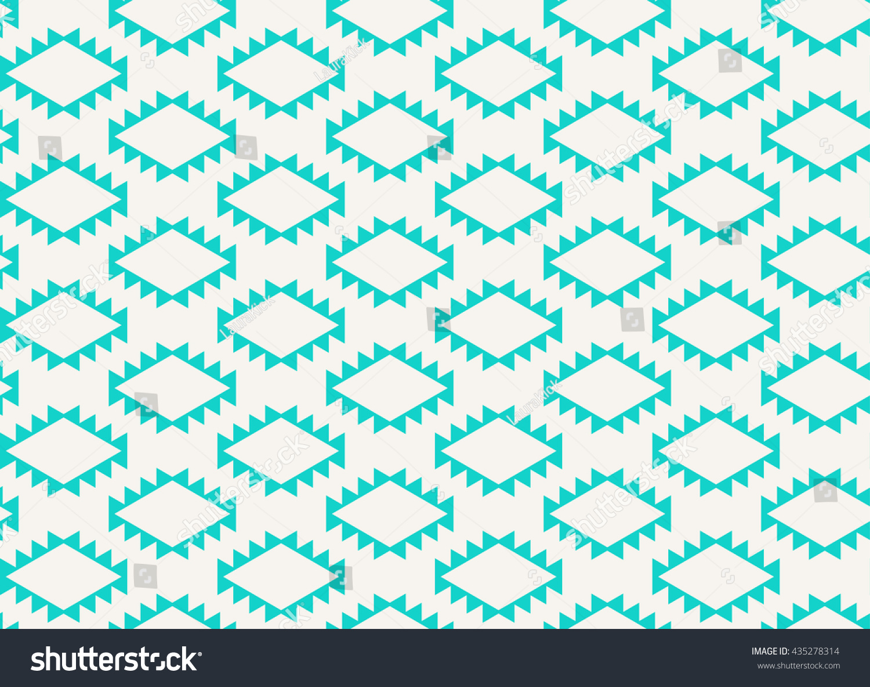 Seamless Aztec Wallpaper Hollow Diamond Teeth Stock Vector