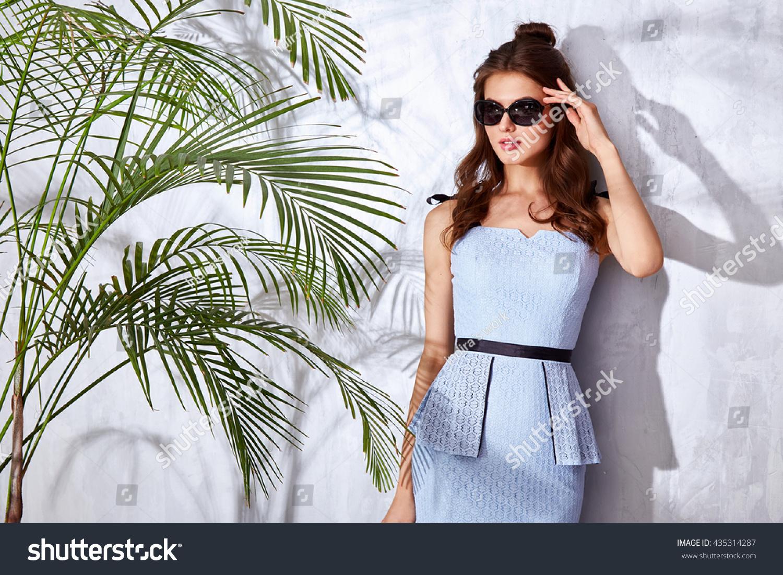Beautiful Sexy Woman Wear Fashion Design Stock Photo Edit Now 435314287