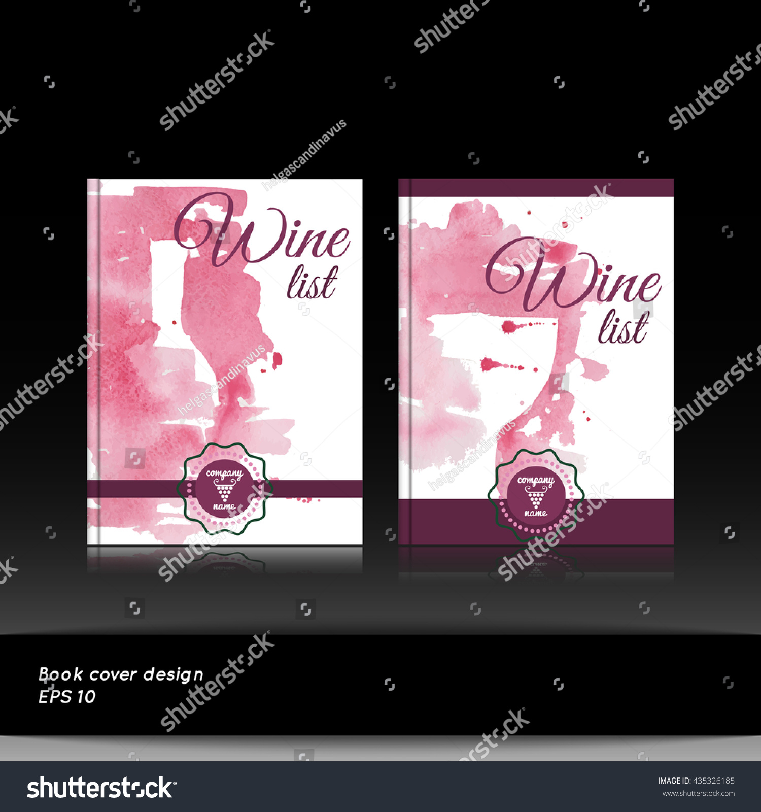 Wine List Book Menu Cover Template Stock Vector (Royalty Free) 435326185