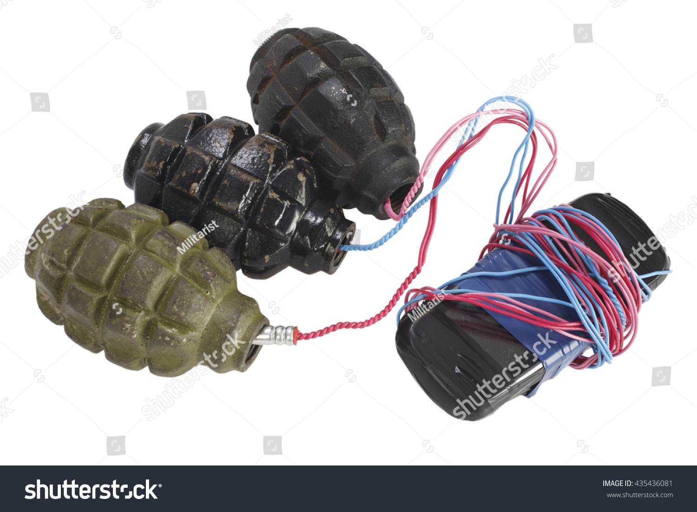Ied Improvised Explosive Device Isolated On Stock Photo 435436081 ...