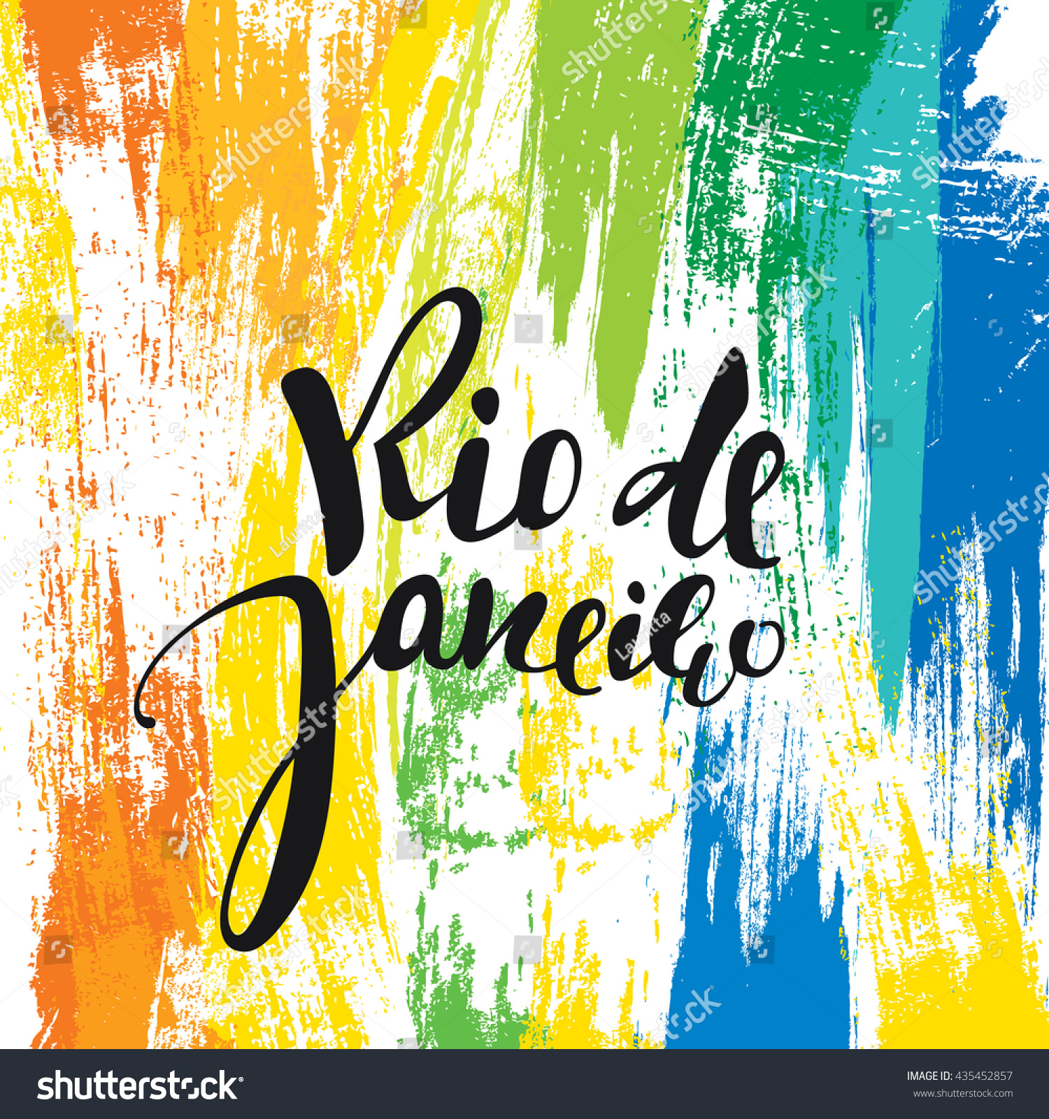 Handmade watercolor brazil flag brasil stock photos freeimages com - Rio De Janeiro Inscription Background Colors Of The Brazilian Flag Calligraphy Handmade Greeting Cards