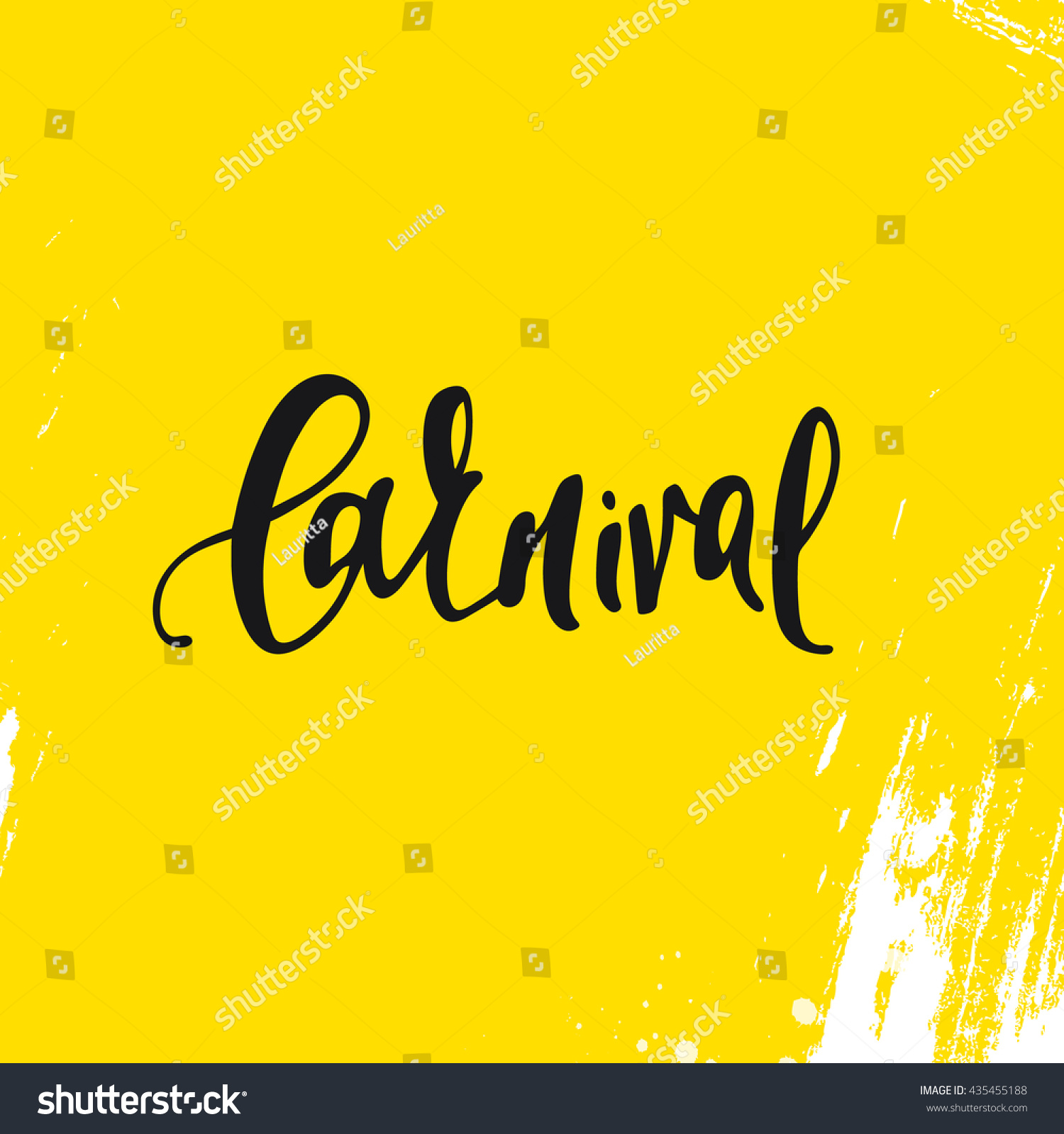Inscription carnival background yellow calligraphy