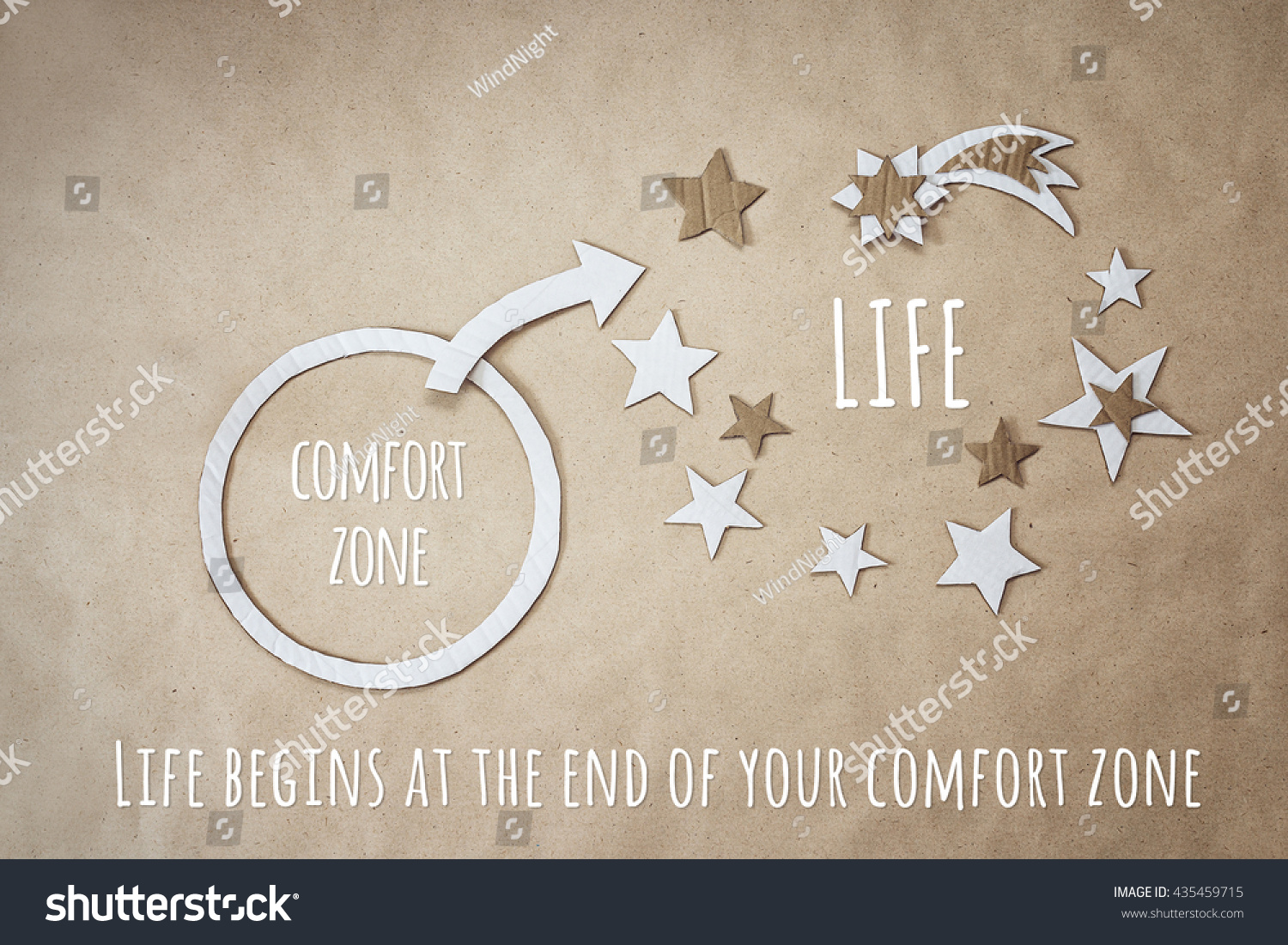 End Of Life Quotes Inspirational Inspirational Quote Encouragement Leave Your Comfort Stock Photo