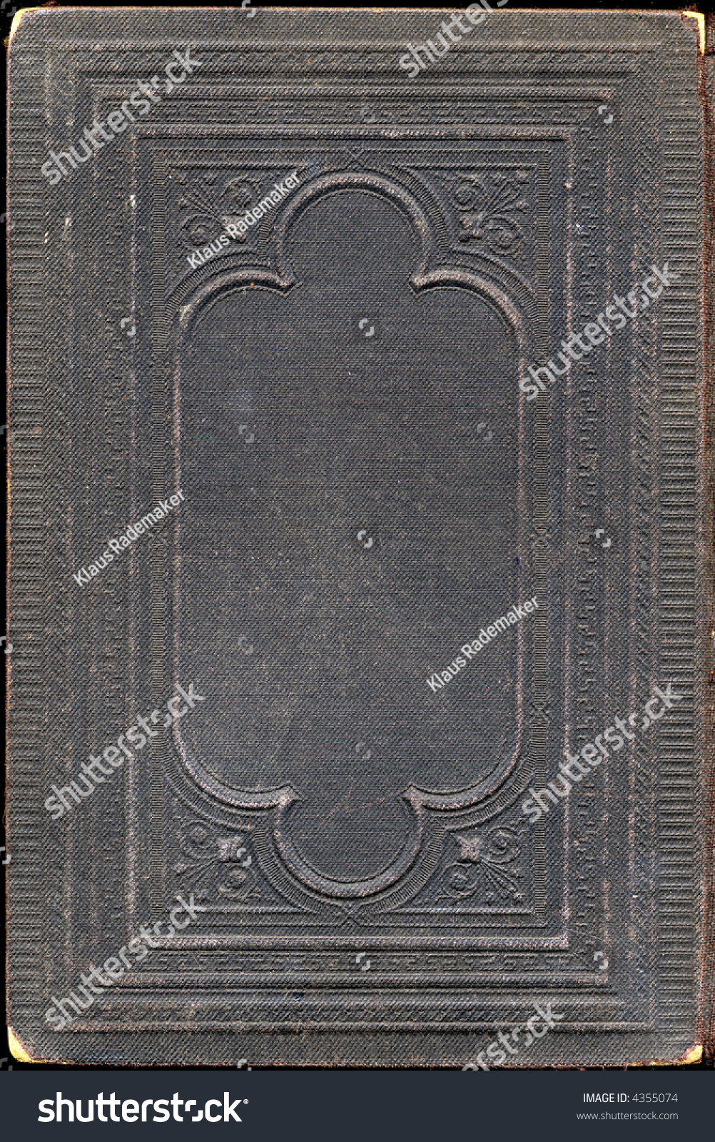 Old Book Back Cover : Back cover of an antique book psalms stock photo