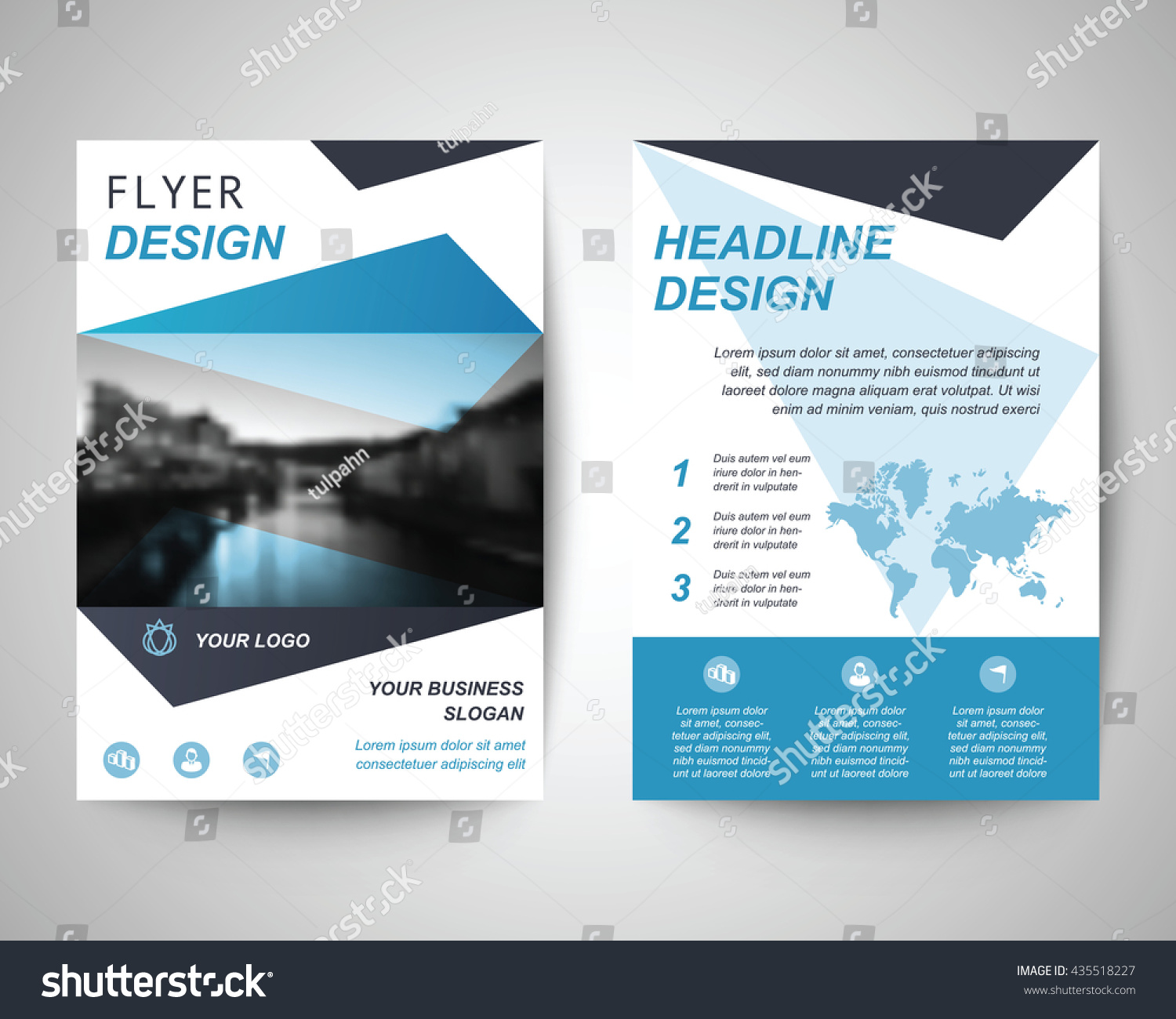 royalty blue abstract flyer layout template  blue abstract flyer layout template brochure background leaflet cover vector design in a4 size for business annual report stock vector