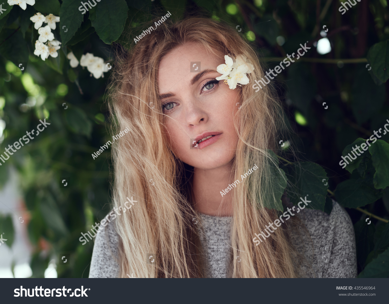 portrait sweet young girl closeup city stock photo & image (royalty