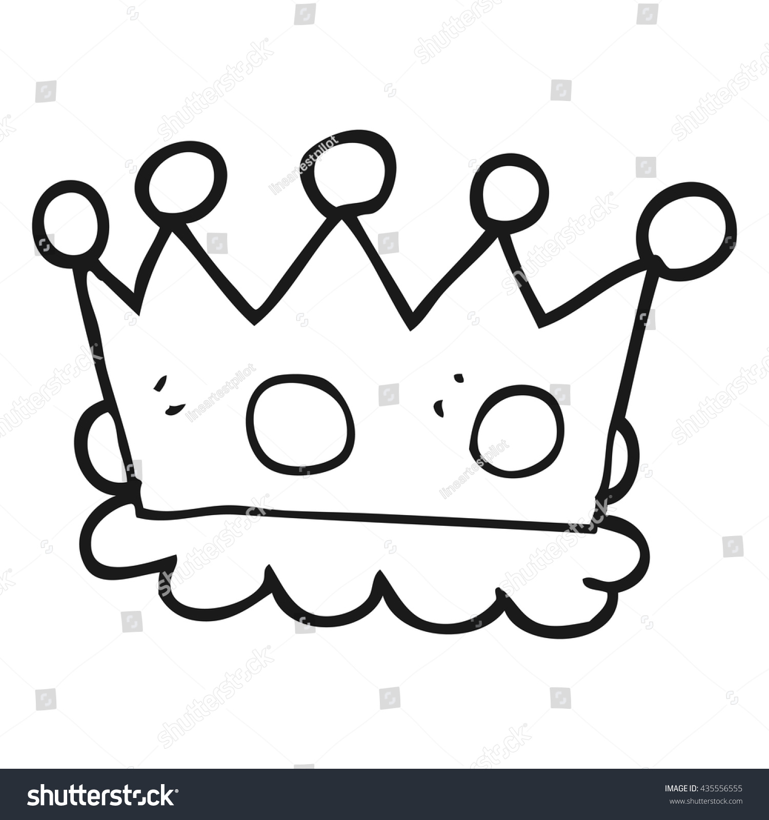 Cartoon Crown Black And White / Drawing crown of queen elizabeth the queen mother , black and white png clipart.