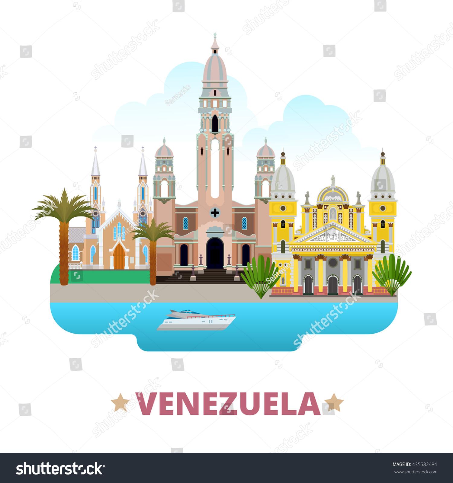 Venezuela country flat cartoon style historic stock vector venezuela country flat cartoon style historic sight web site vector illustration world travel south america pronofoot35fo Gallery