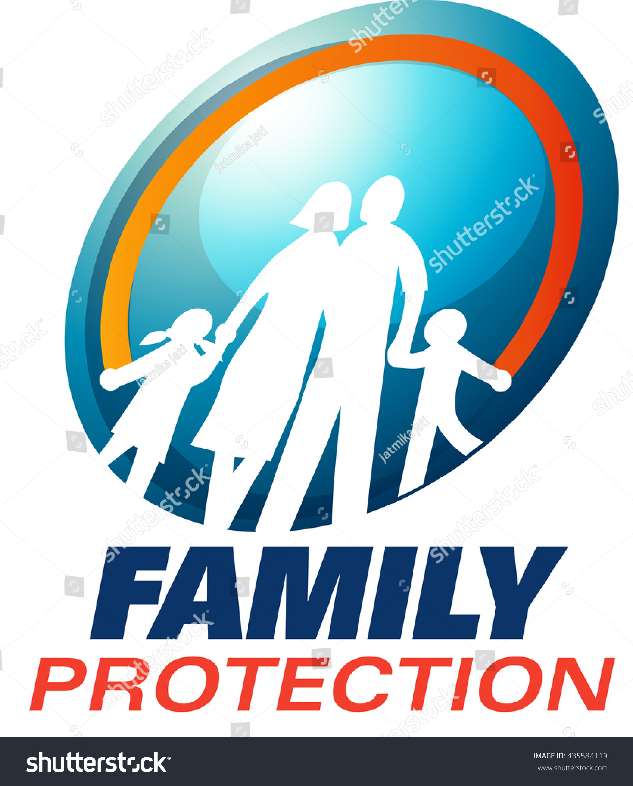 Vector Symbol Family Protection Family Planning Stock Vector 2018