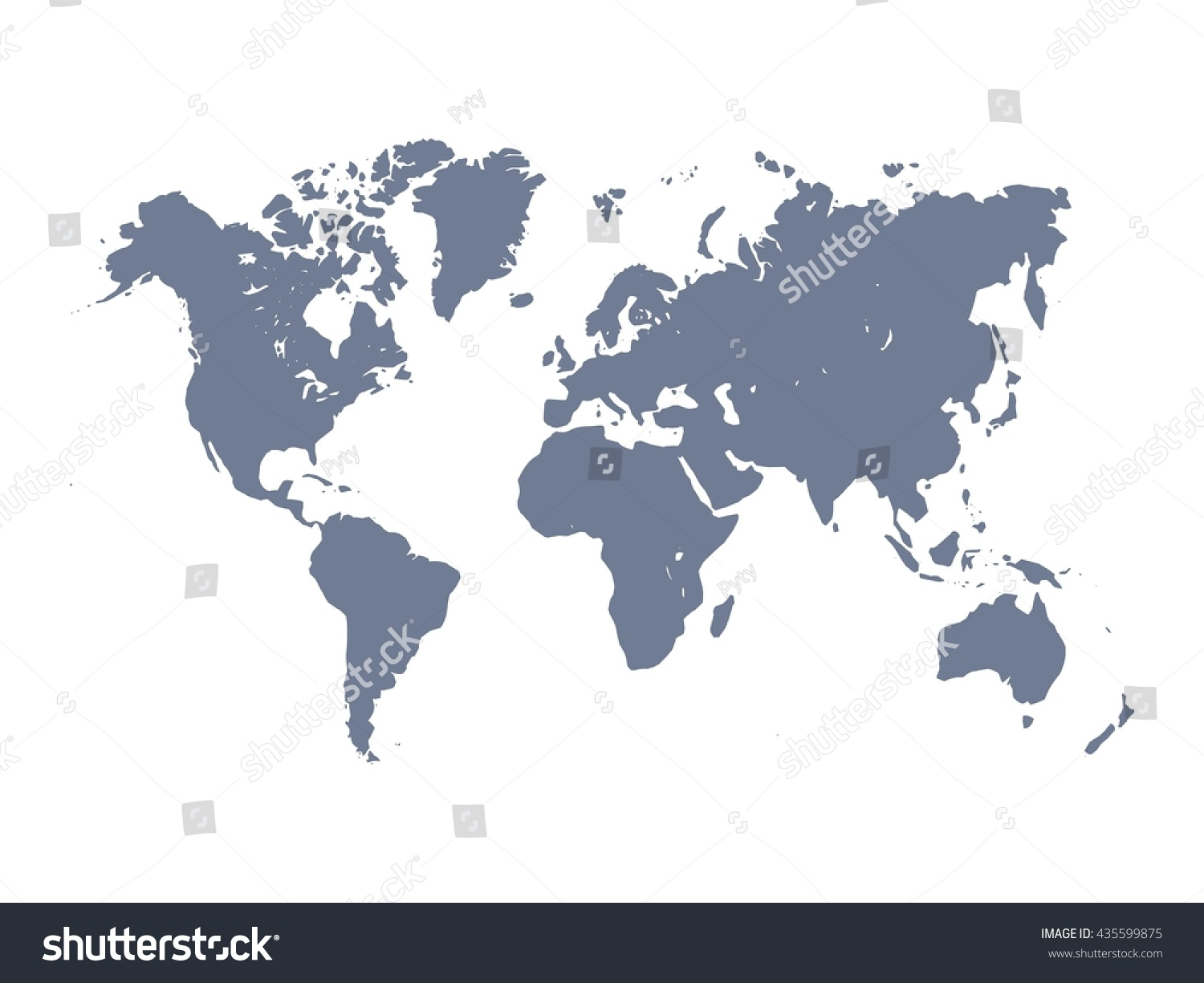 Vector Map World Violet Silhouette On Stock Vector 435599875