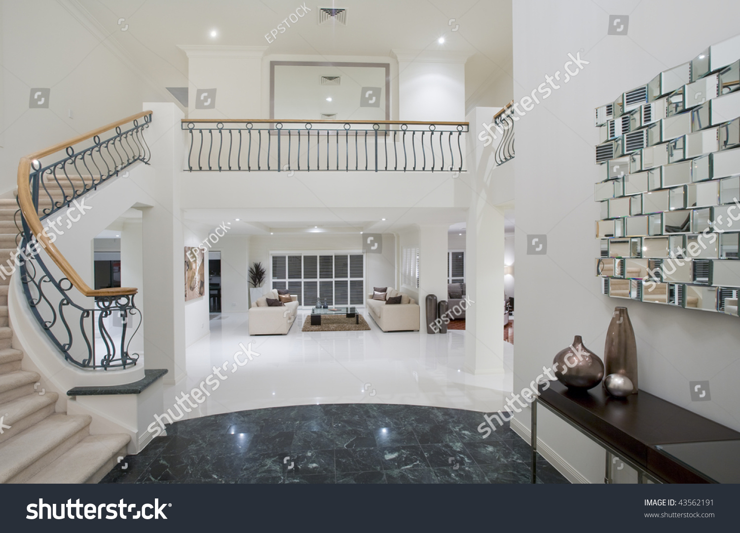 Marble Flooring In A Mansion : Luxury mansion entrance marble floor stock photo
