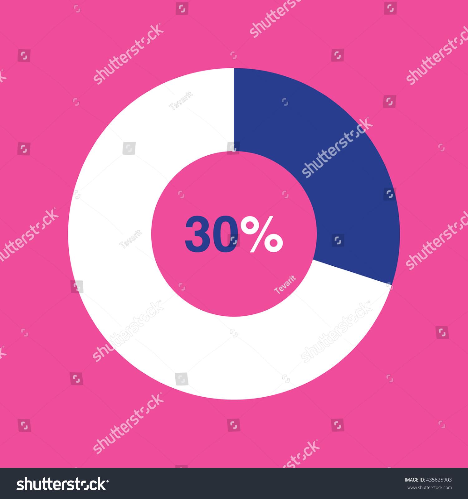 Icon pie blue chart 30 percent stock vector 435625903 shutterstock nvjuhfo Choice Image