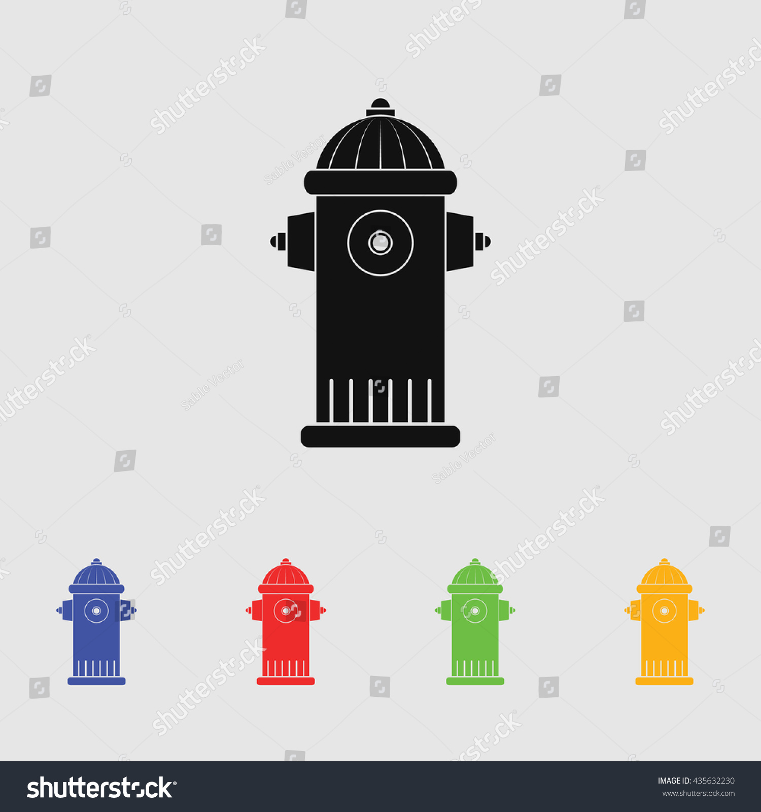 Fire Hydrant Symbol Stock Vector Royalty Free 435632230 Shutterstock