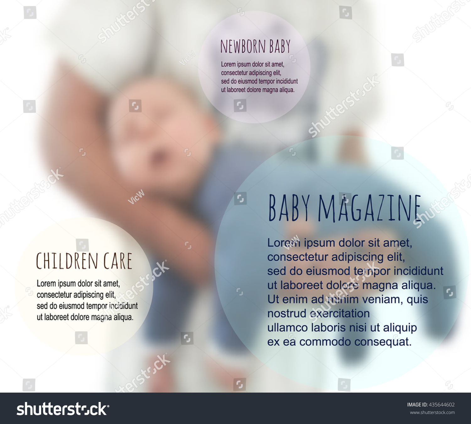 infant vector brochure template baby boy sleeping vector child save to a lightbox