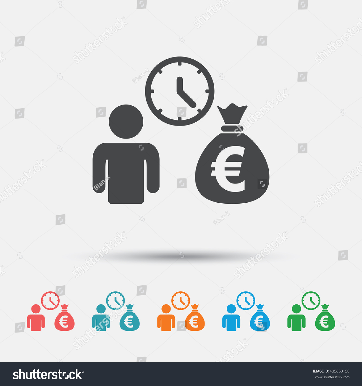 Bank Loans Sign Icon Get Money Stock Vector (Royalty Free) 435650158