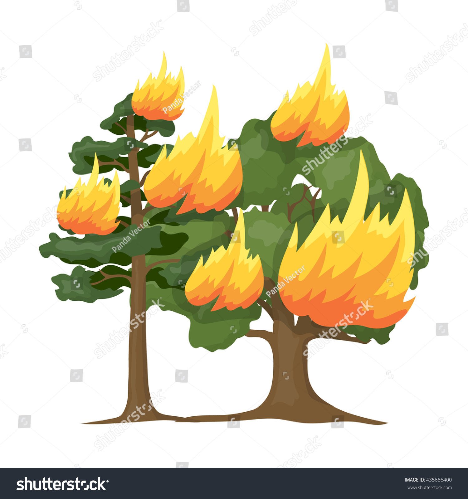 Forest Fire Vector Illustration Icon Cartoon Stock Vector Royalty Free 435666400 Choose from 480000+ cartoon fire tree graphic resources and download in the form of png, eps, ai or psd. https www shutterstock com image vector forest fire vector illustration icon cartoon 435666400