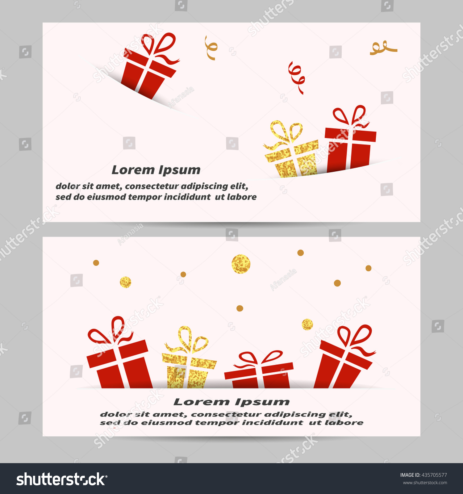 Gift Voucher Coupon Design Template Gift Stock Vector 435705577