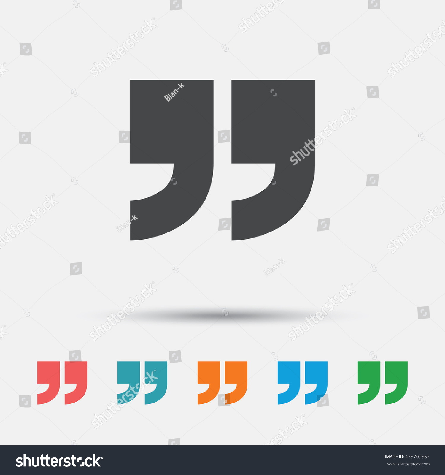 Quote Sign Icon Quotation Mark Symbol Stock Vector 435709567