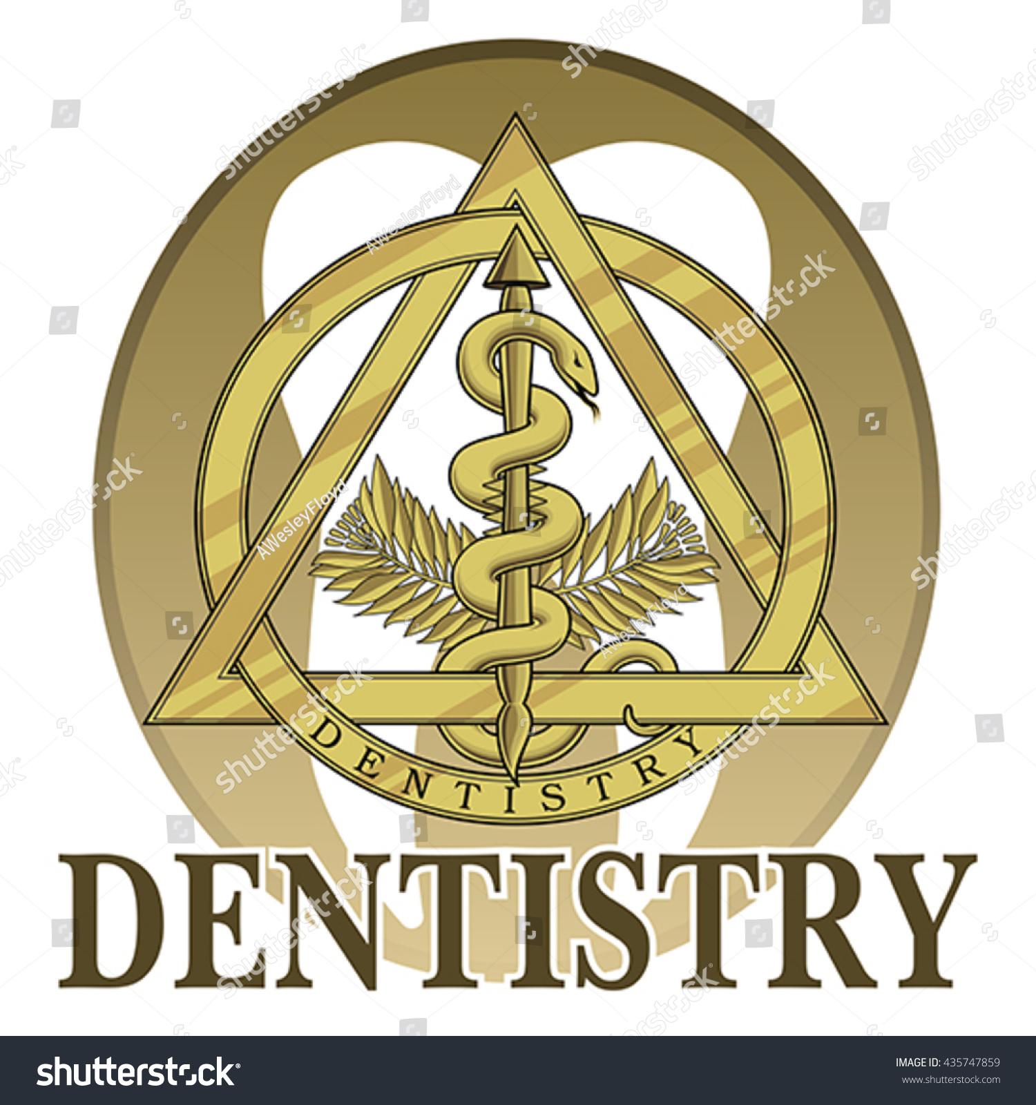 Dentistry Symbol Design Illustration Design Template Stock Vector