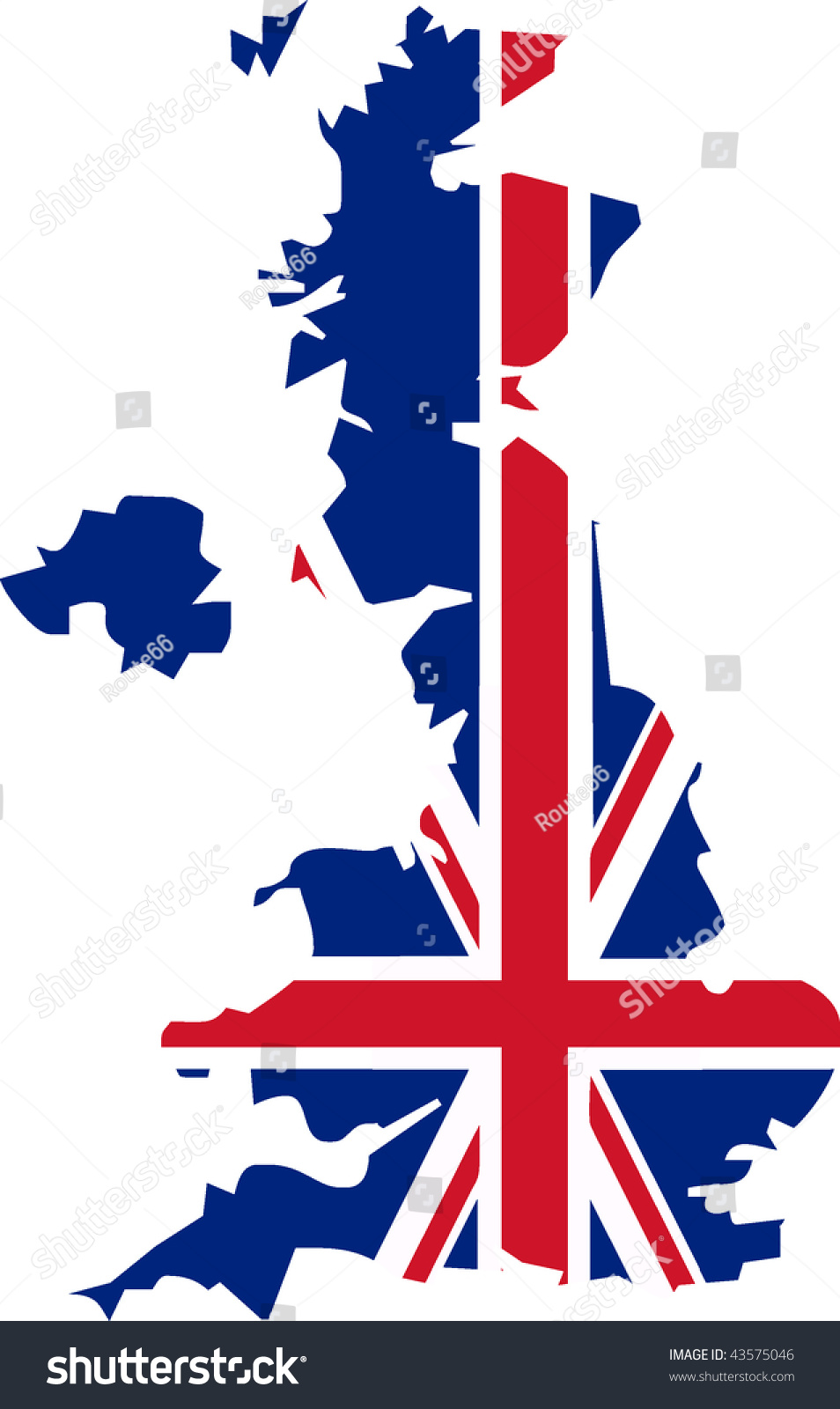 uk flag shape country isolated vector stock vector 43575046