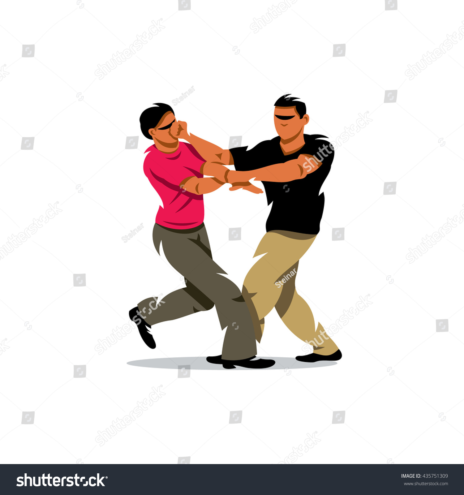 Two People Fighting Cartoon Pictures to Pin on Pinterest ...