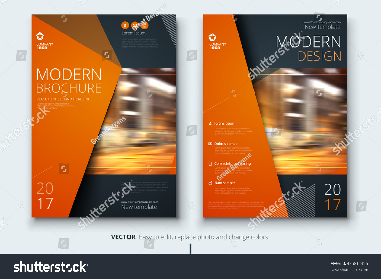 modern brochure templates - brochure template layout design corporate business stock