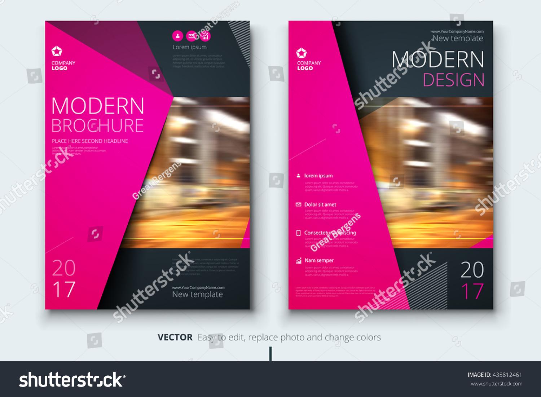 Brochure fashion design corporate business template stock for Fashion brochure template