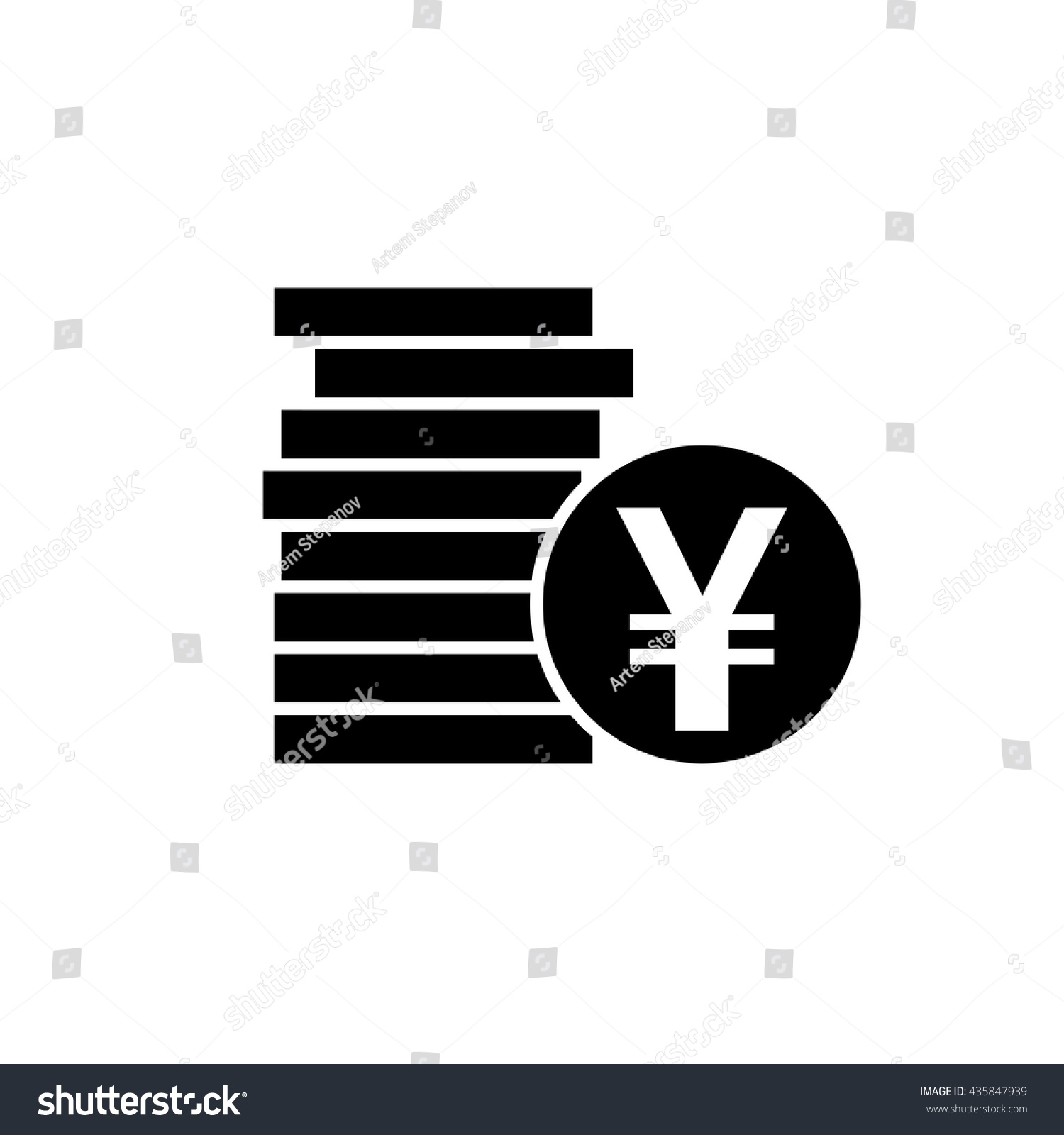 Japanese yen chinese yuan currency symbol stock vector 435847939 japanese yen or chinese yuan currency symbol flat icon for apps and websites biocorpaavc Image collections