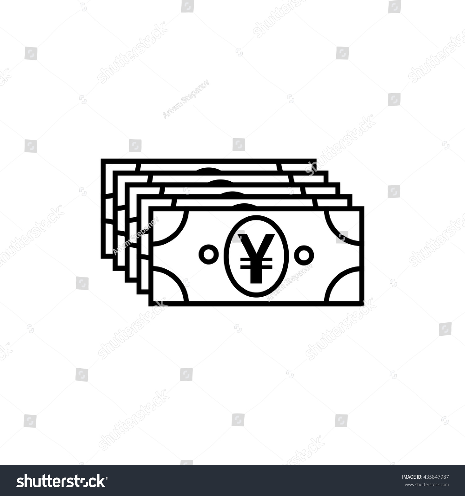 Japanese yen chinese yuan currency symbol stock vector 435847987 japanese yen or chinese yuan currency symbol flat icon for apps and websites biocorpaavc