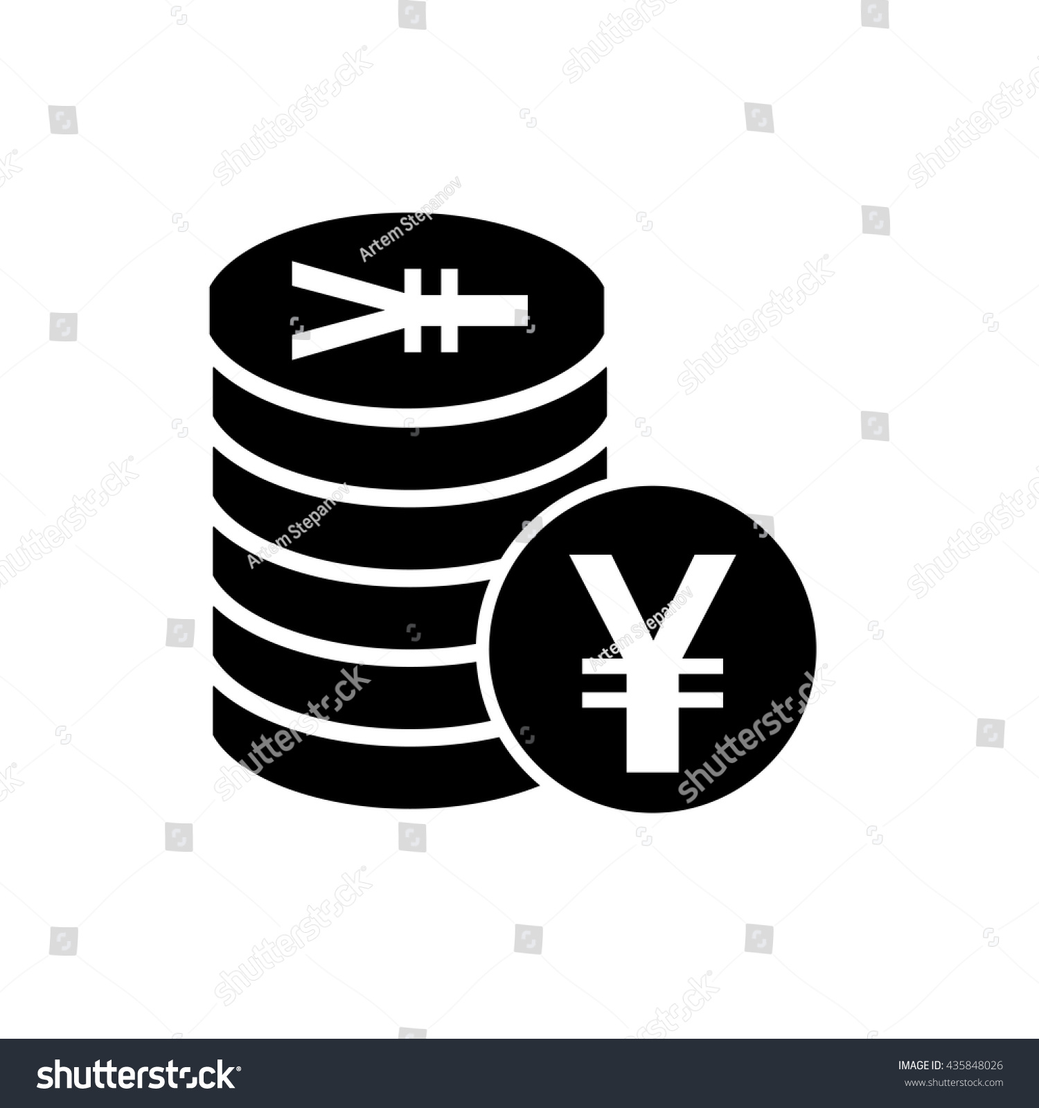 Japanese yen chinese yuan currency symbol stock vector 435848026 japanese yen or chinese yuan currency symbol flat icon for apps and websites biocorpaavc Image collections