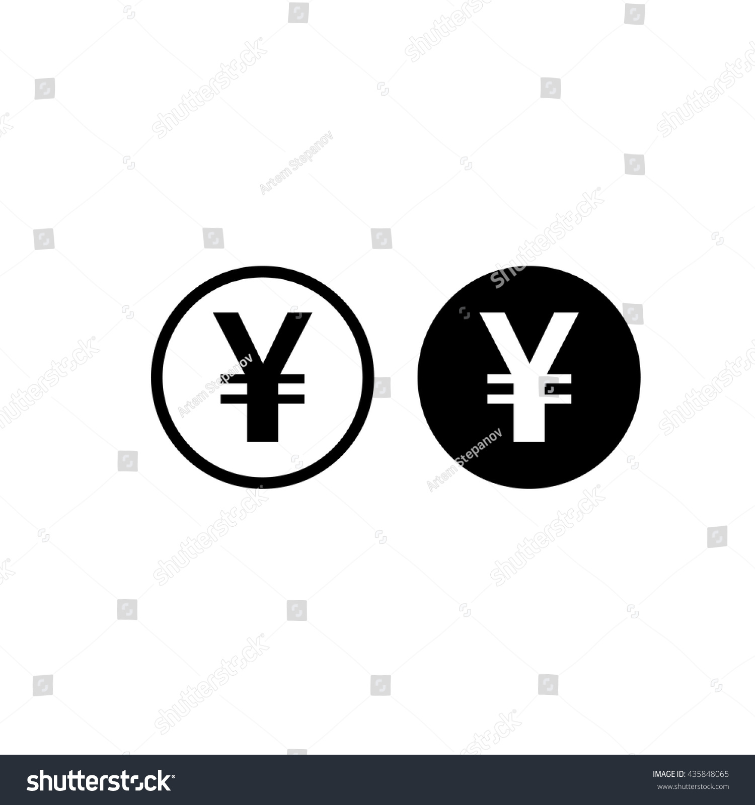 Japanese yen chinese yuan currency symbol stock vector 435848065 japanese yen or chinese yuan currency symbol flat icon for apps and websites biocorpaavc Image collections