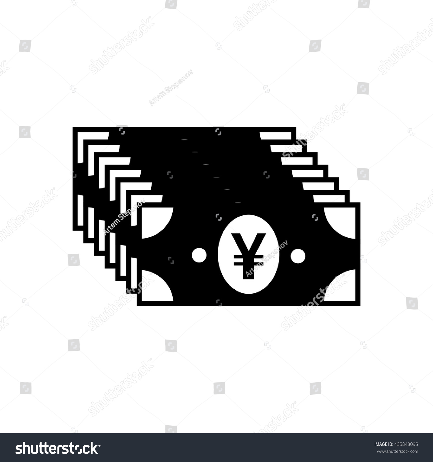 Japanese yen chinese yuan currency symbol stock vector 435848095 japanese yen or chinese yuan currency symbol flat icon for apps and websites biocorpaavc Image collections