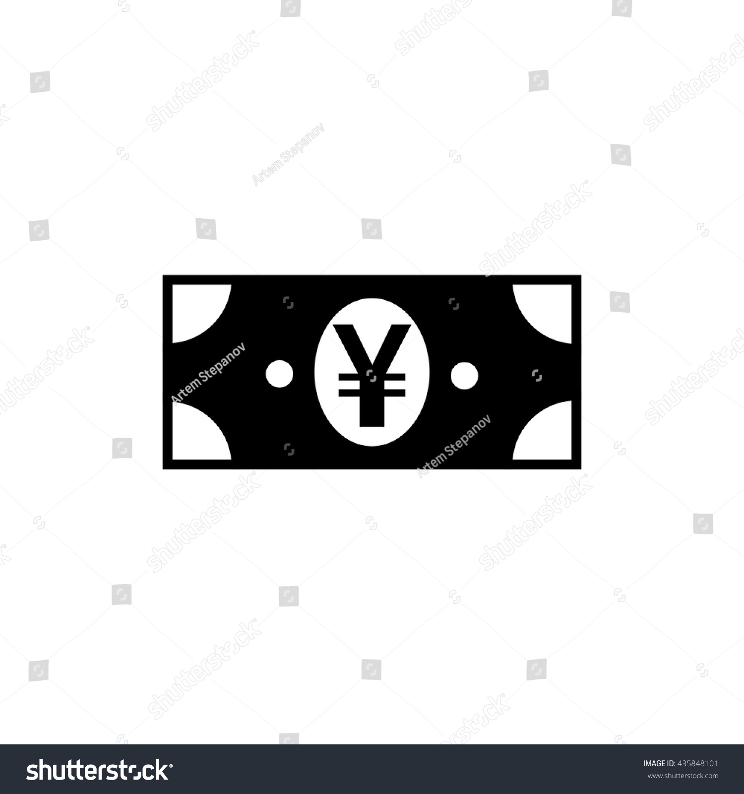 Japanese yen chinese yuan currency symbol stock vector 435848101 japanese yen or chinese yuan currency symbol flat icon for apps and websites biocorpaavc
