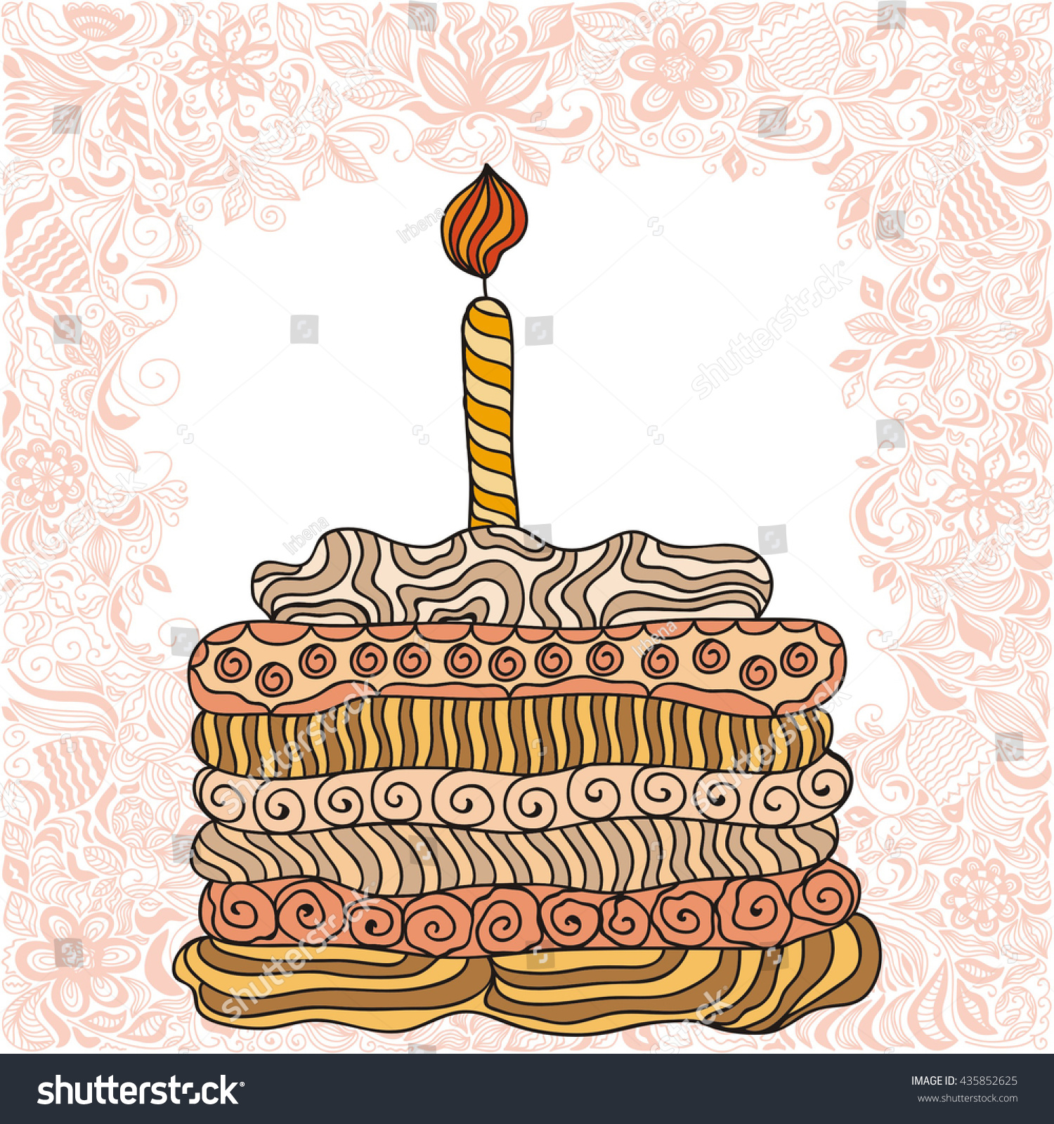 Beautiful Birthday Cake Vector Image Inspiration of Cake and