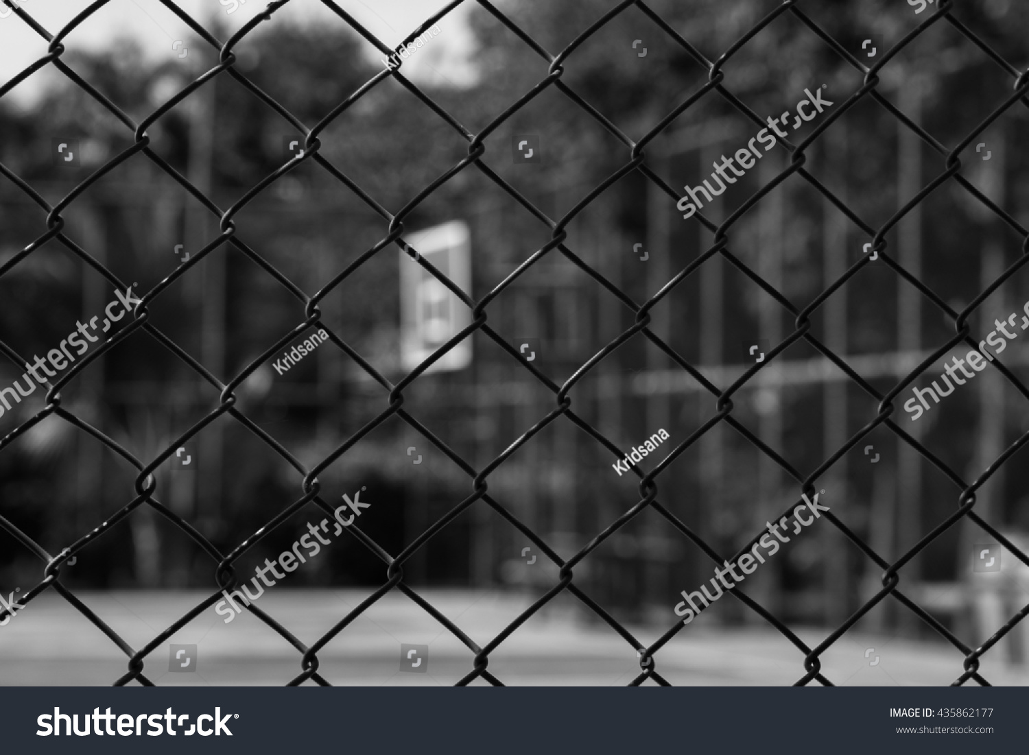 Steel Wire Mesh Fence Basketball Court Stock Photo (Edit Now ...