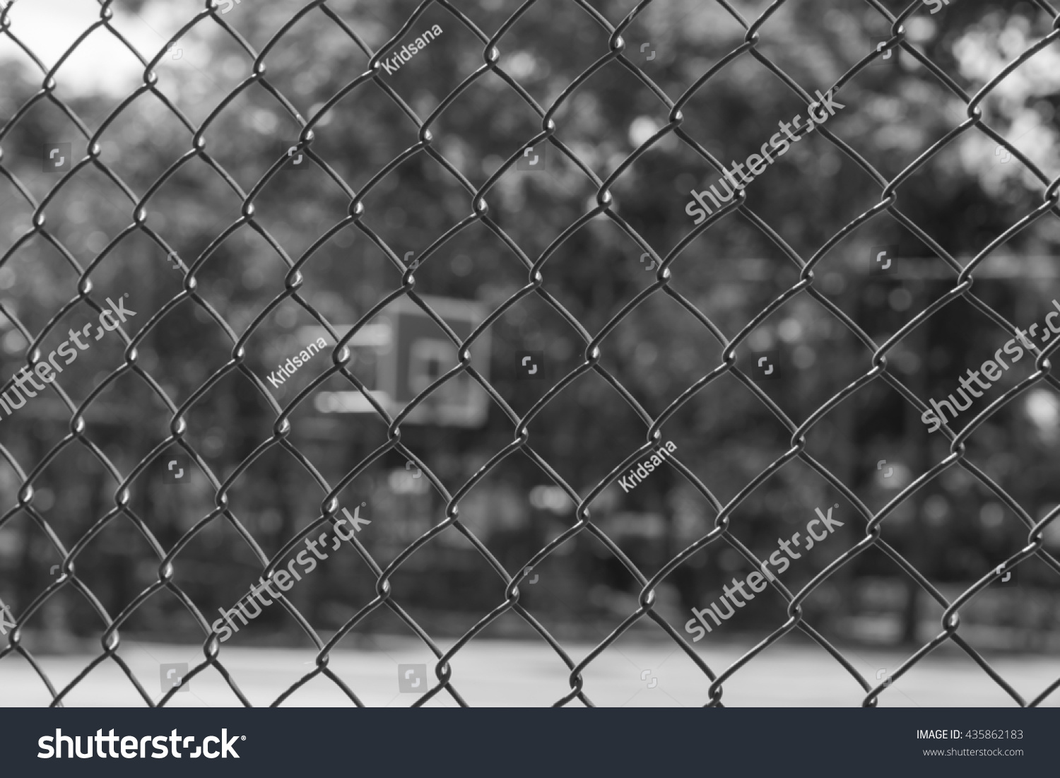 Royalty-free Steel wire mesh fence Basketball court… #435862183 ...