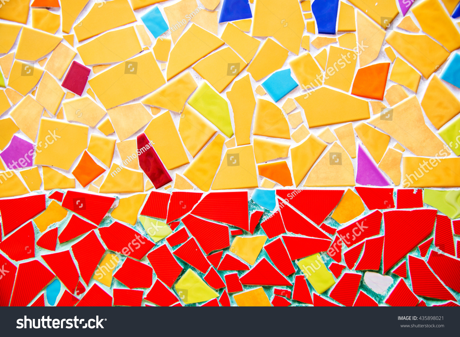 Colorful Glass Mosaic Art Abstract Wall Stock Photo 435898021 ...