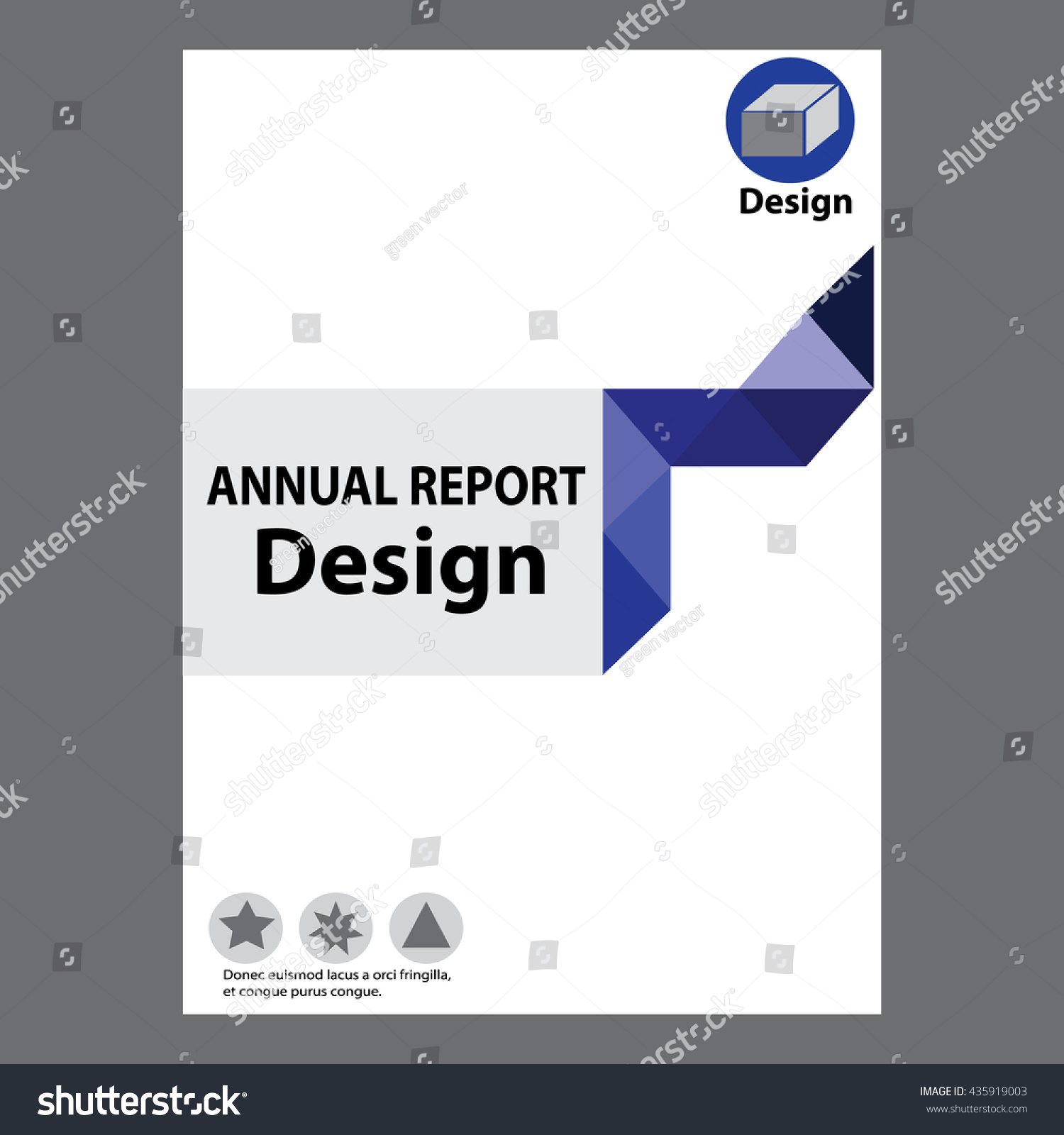 blue annual report title page sample  blue annual report title page sample cover page design templates in a4 vector