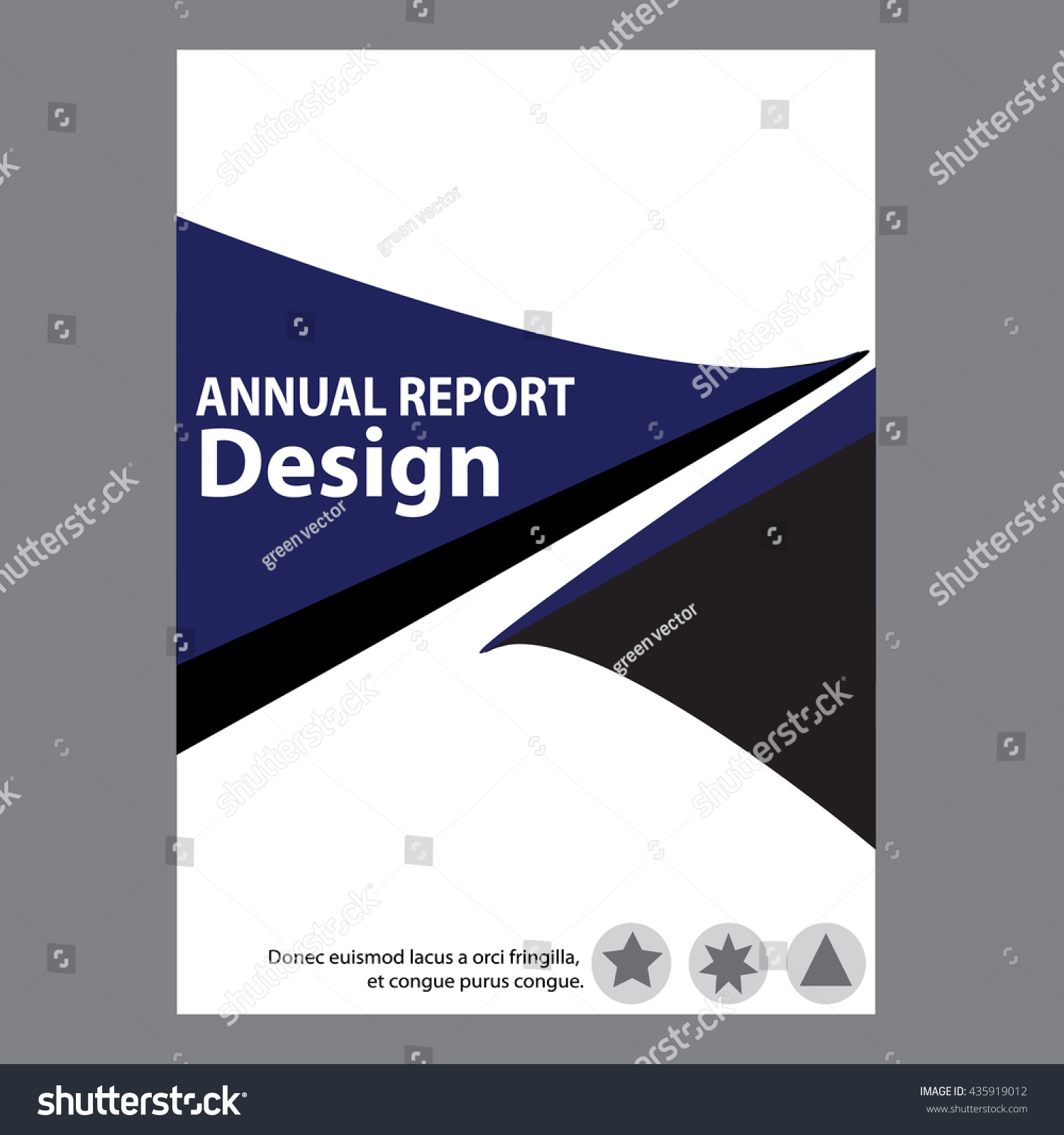 blue annual report title page sample stock vector  blue annual report title page sample cover page design templates in a4 vector