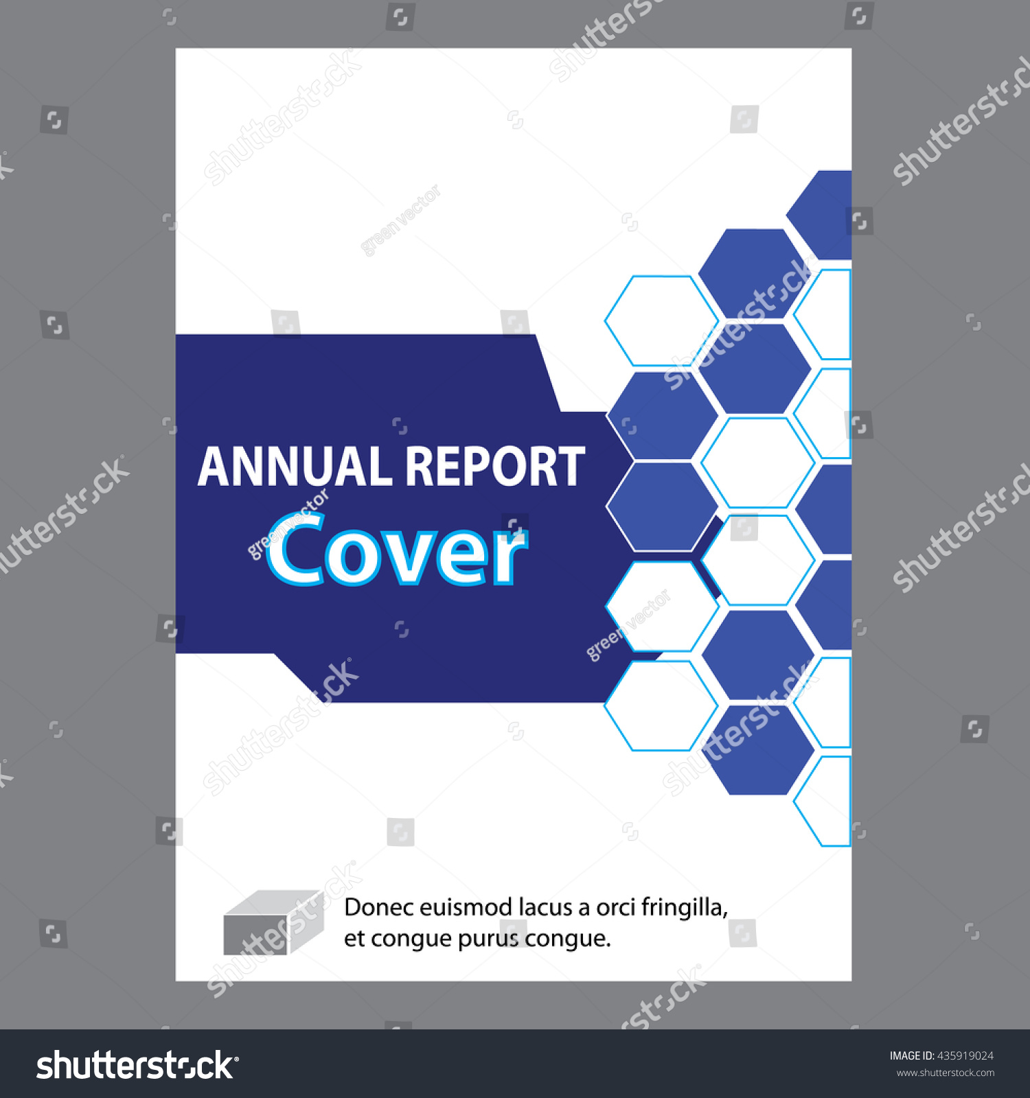 Blue annual report title page sample stock vector for Cover pages designs templates free