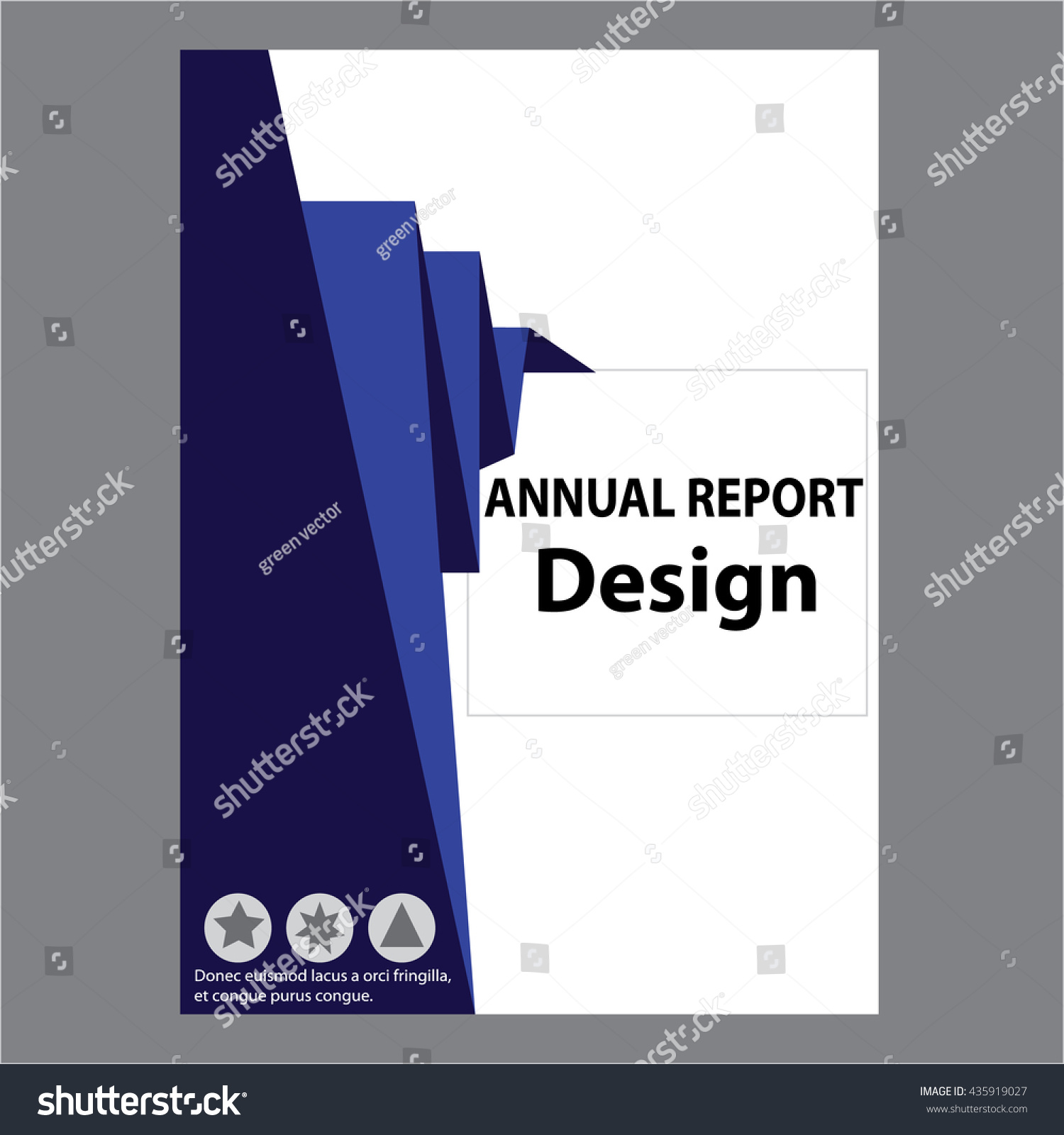 blue annual report title page sample stock vector 435919027 blue annual report title page sample cover page design templates in a4 vector