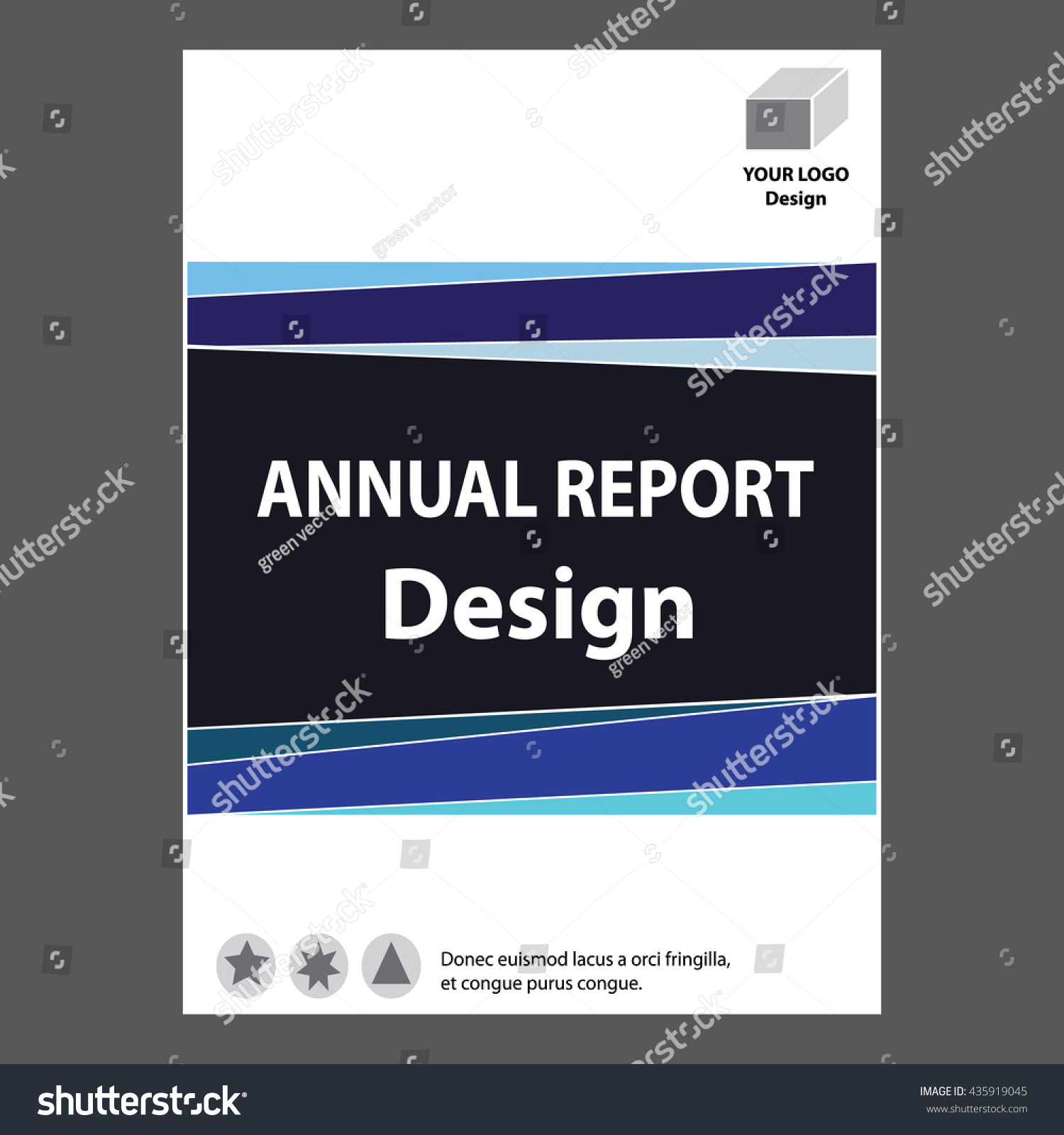blue annual report title page sample cover page design templates save to a lightbox