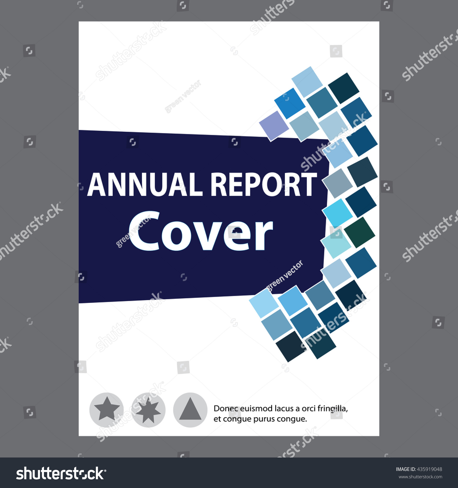 blue annual report title page sample stock vector 435919048 blue annual report title page sample cover page design templates in a4 vector