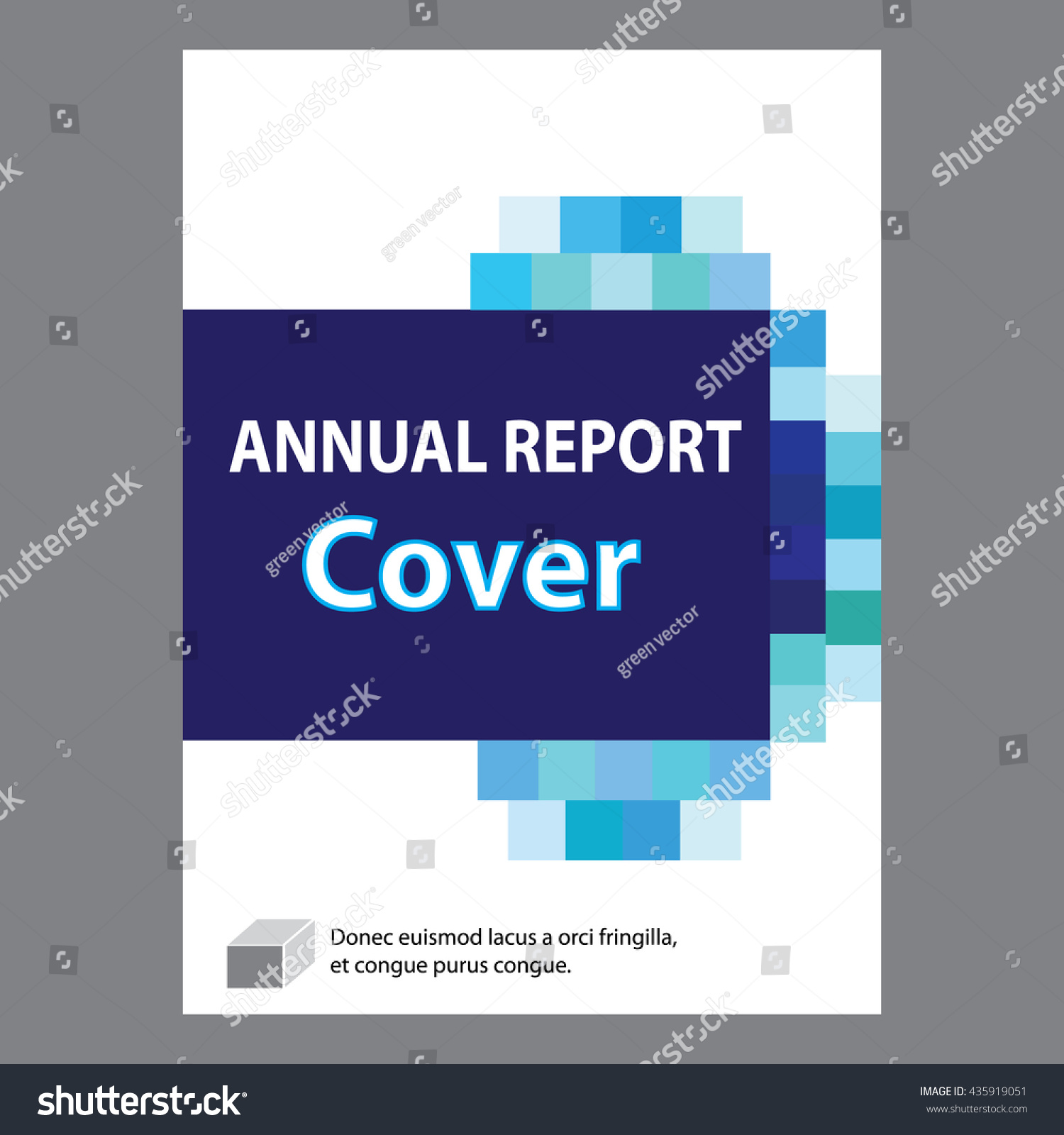 blue annual report title page sample stock vector 435919051 blue annual report title page sample cover page design templates in a4 vector