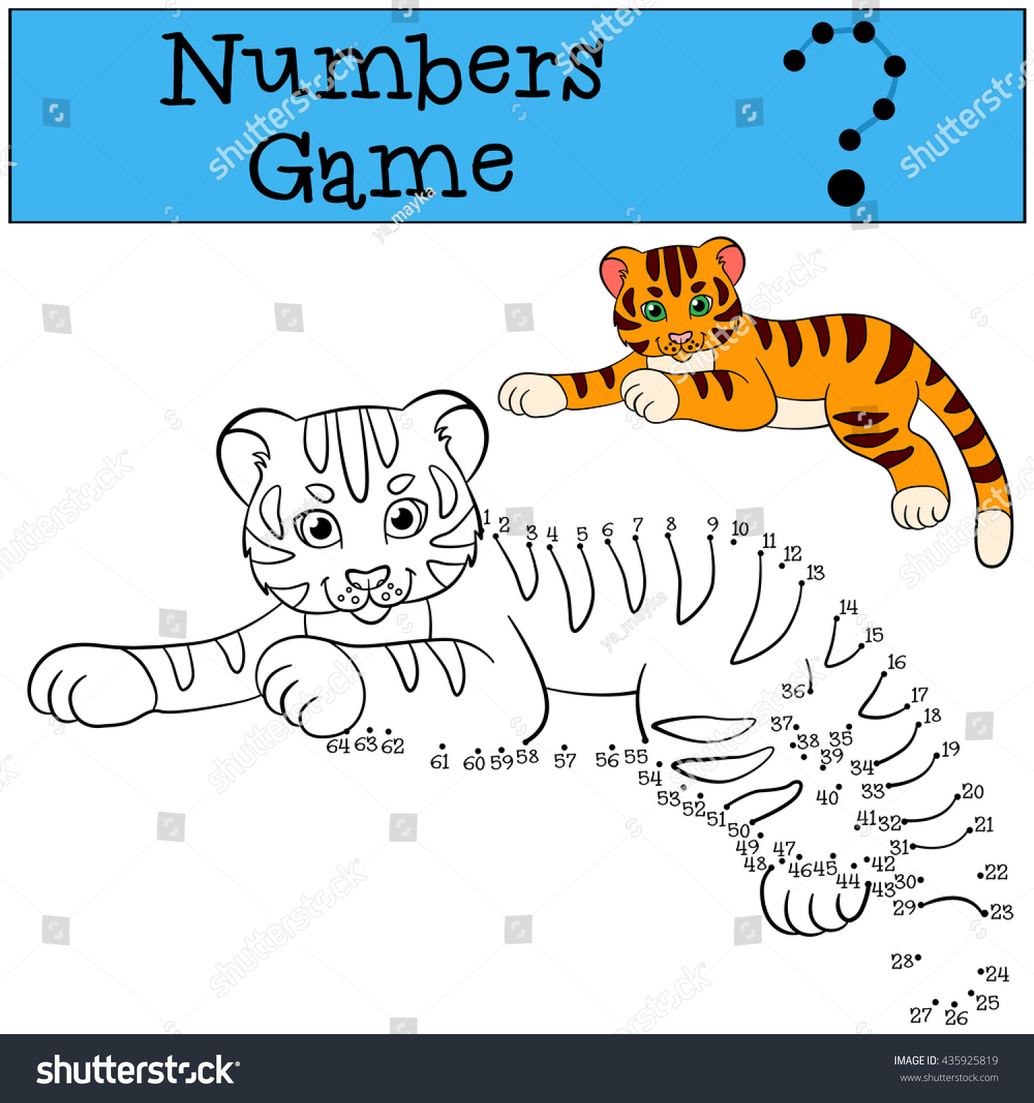 Educational Games Kids Numbers Game Little Stock Vector