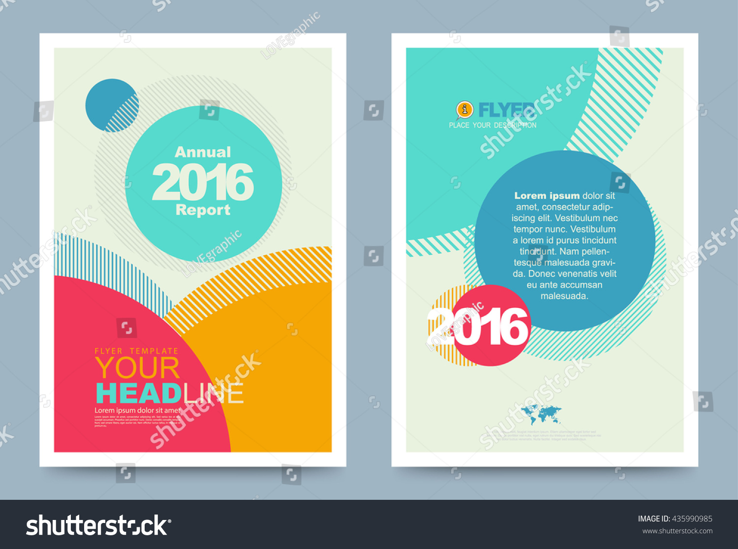 colourful annual report brochure flyer design stock vector 435990985 shutterstock. Black Bedroom Furniture Sets. Home Design Ideas